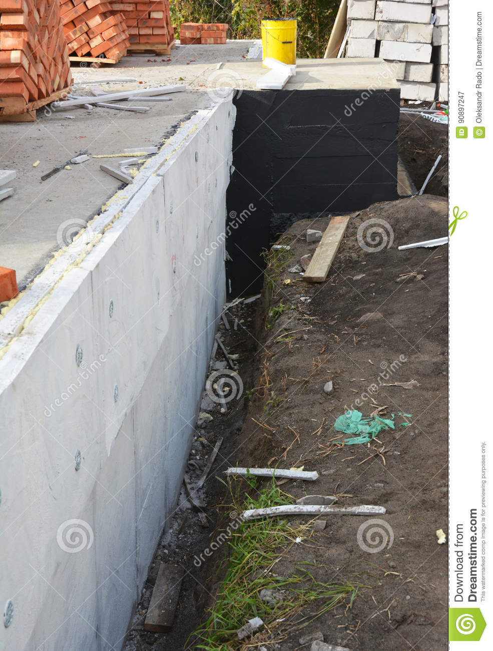 Insulating Exterior Foundation Walls Foundation Insulation With Styrofoam Sheets Rigid Foam For
