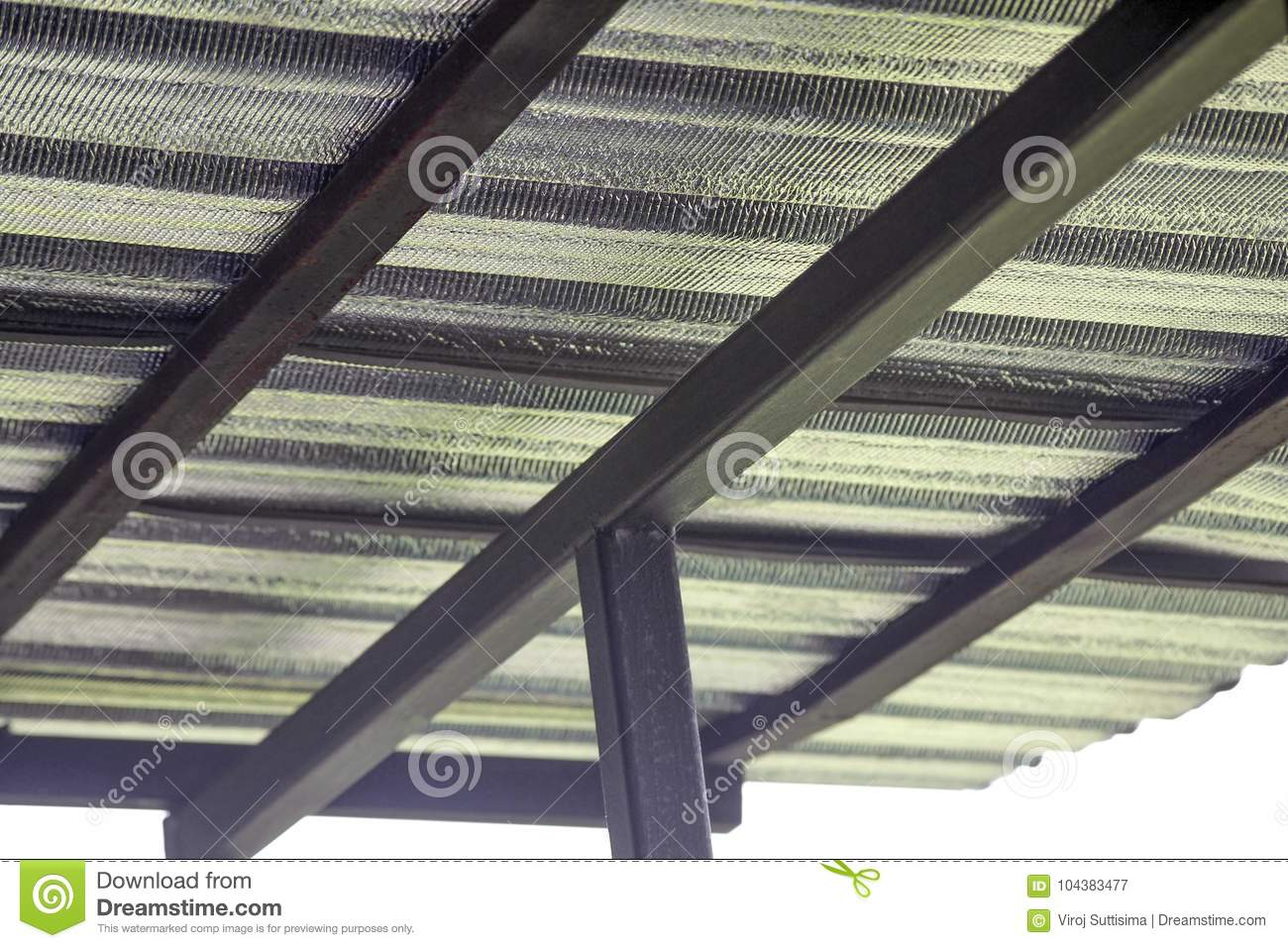 Insulation Metal Sheet Under The Roof To Protection Heat ...