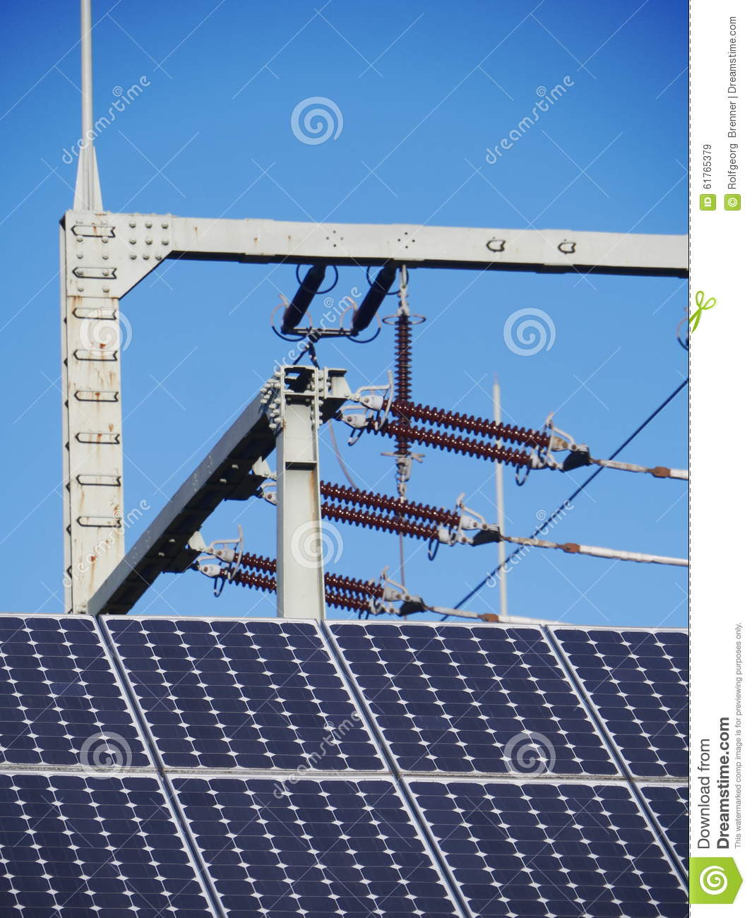 Insulator Solar Cell Stock Image Of Circuit Electric 61765379 Download