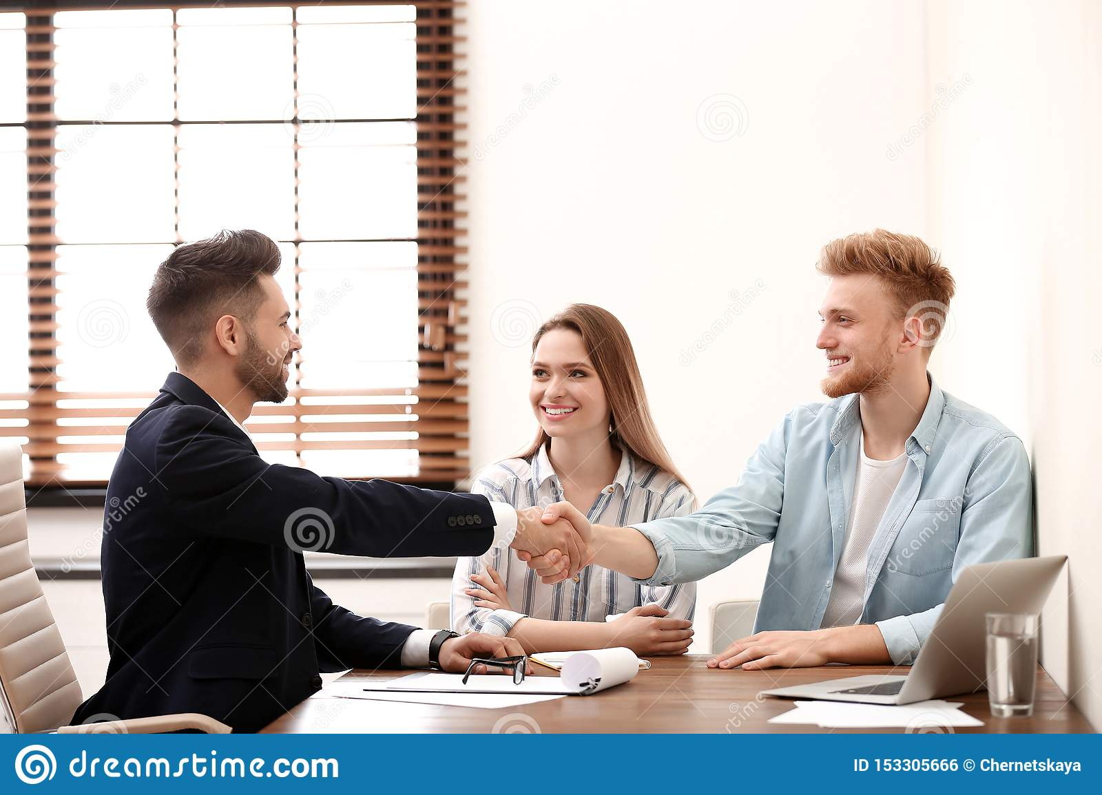 Insurance Agent Shaking Hands With Client Stock Photo Image Of Health Agent 153305666