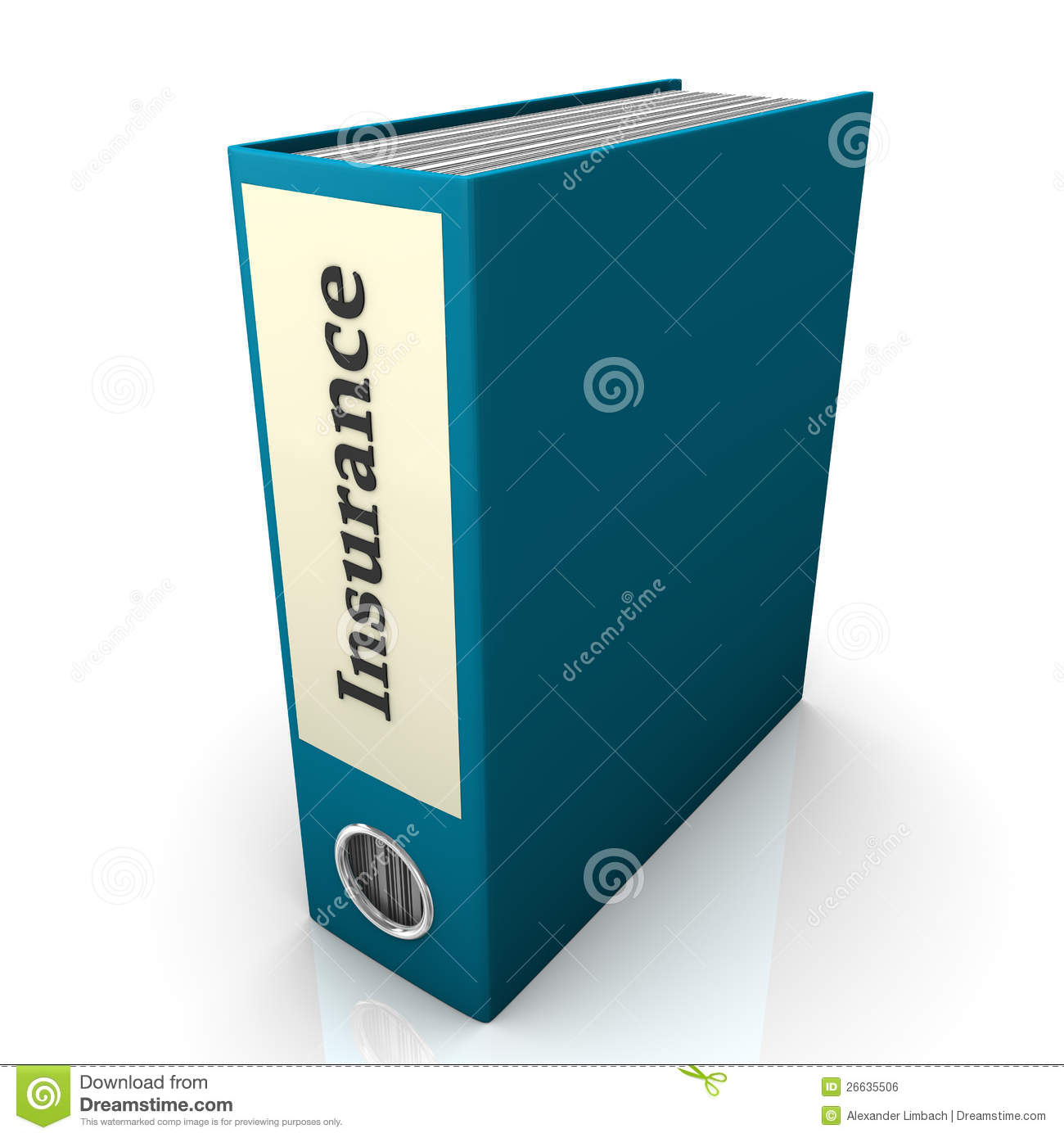 Insurance Folder Royalty Free Stock Image