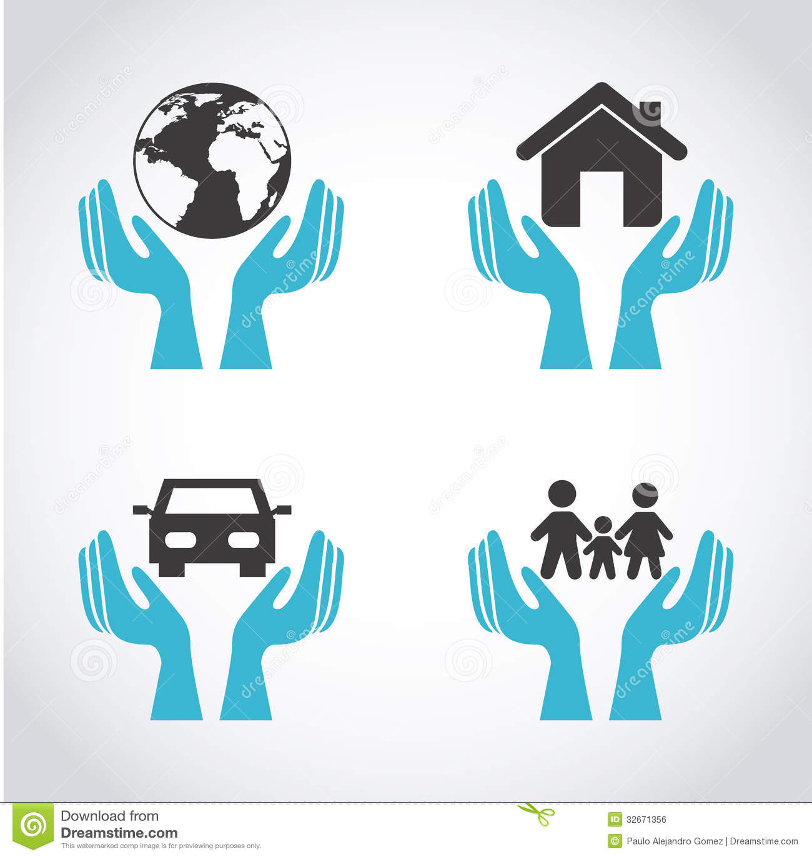 Insurance Icons Royalty Free Stock Image - Image: 32671356