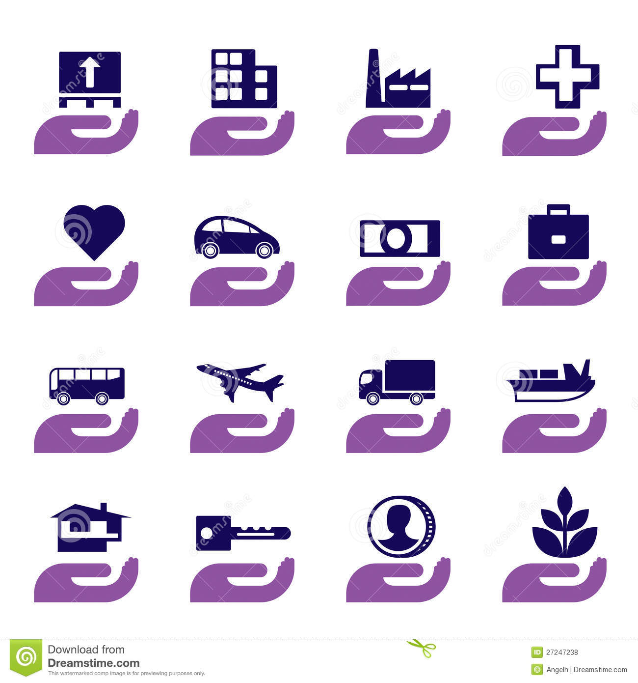 Insurance icons set stock vector. Illustration of bank ...