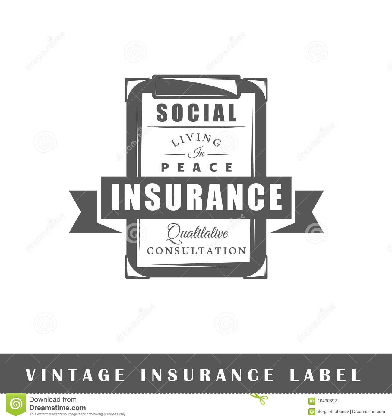 Insurance label template stock vector. Illustration of business ...