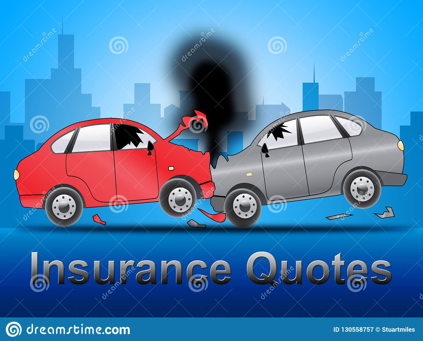 Insurance Quotes Car >> Insurance Quotes Shows Auto Policy 3d Illustration Stock