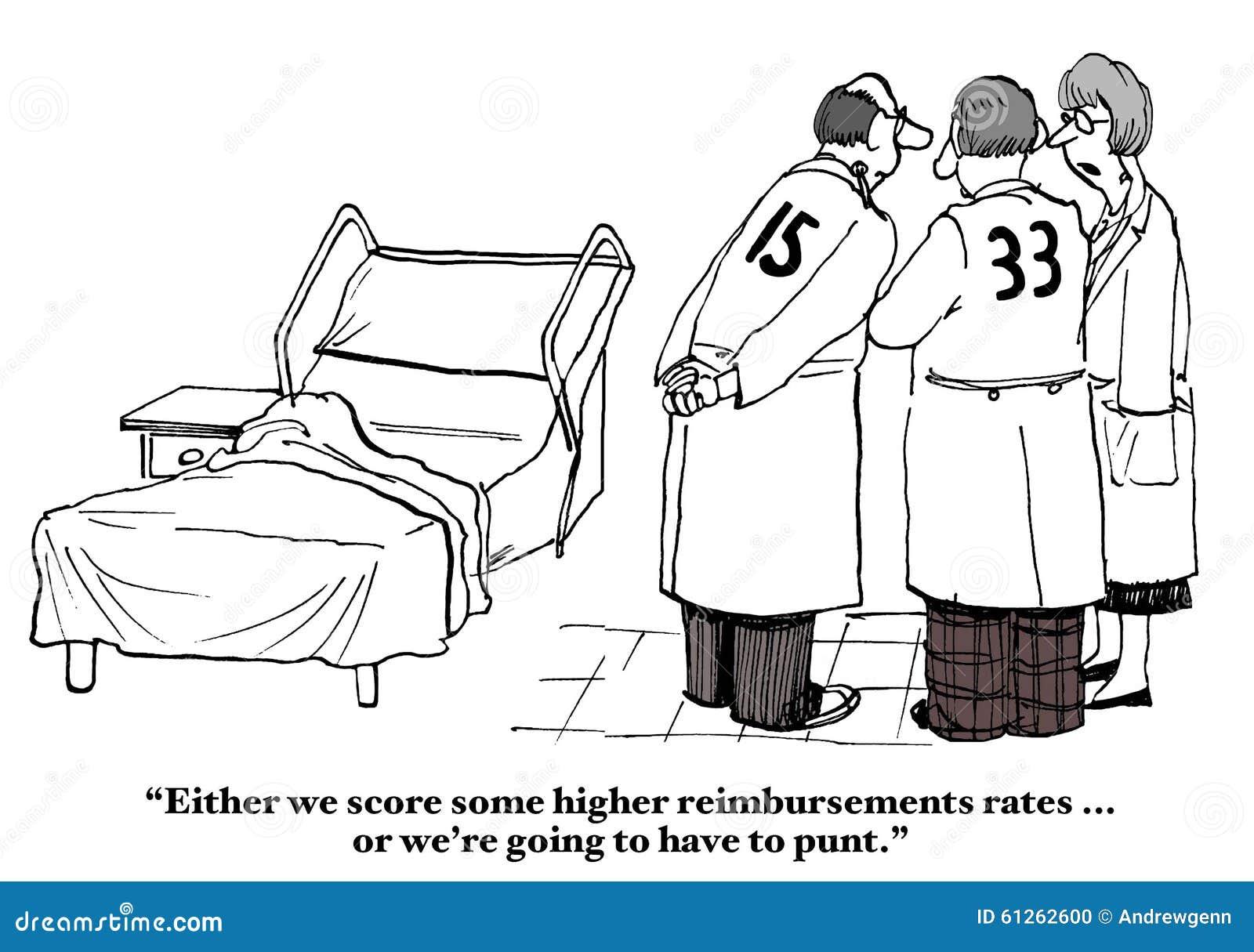 insurance reimbursement rates stock illustration