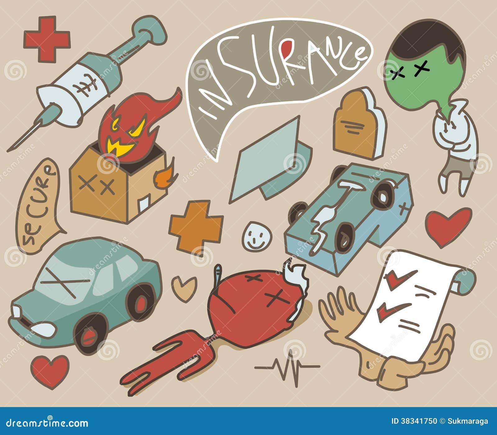 Insurance Set Symbol Stock Photo Image 38341750