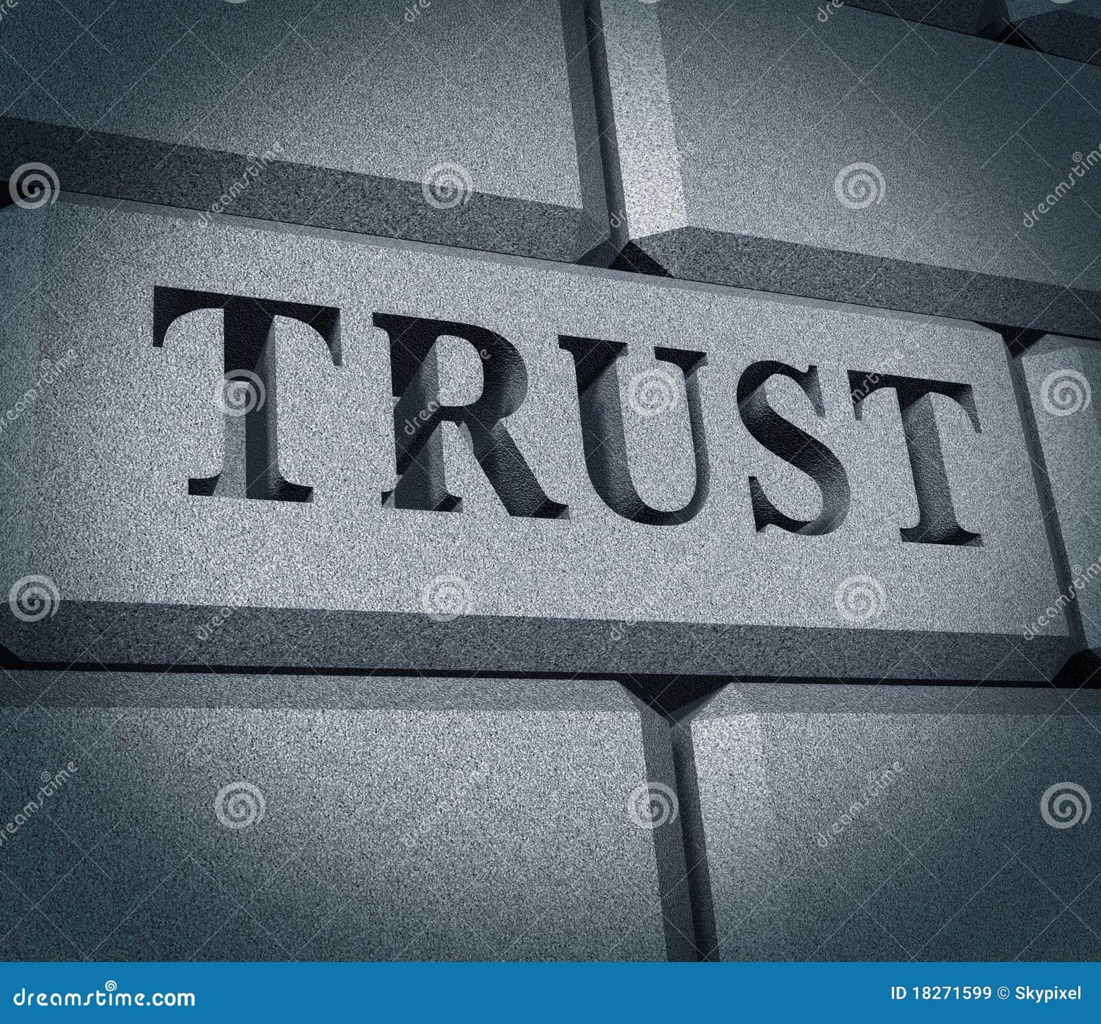 Intégrité financière de de symbole d affaires d honneur de confiance