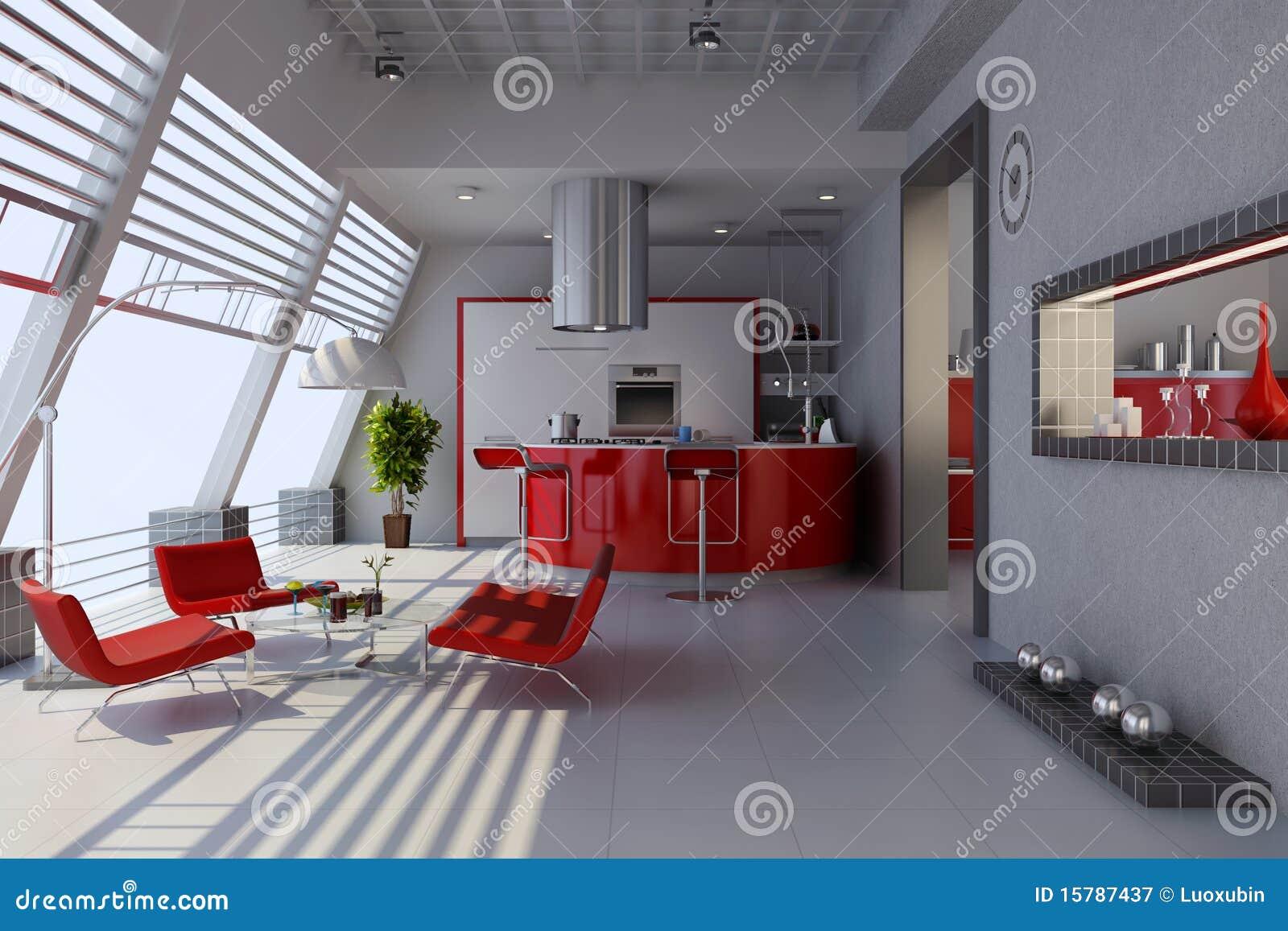 Intérieur à la maison moderne