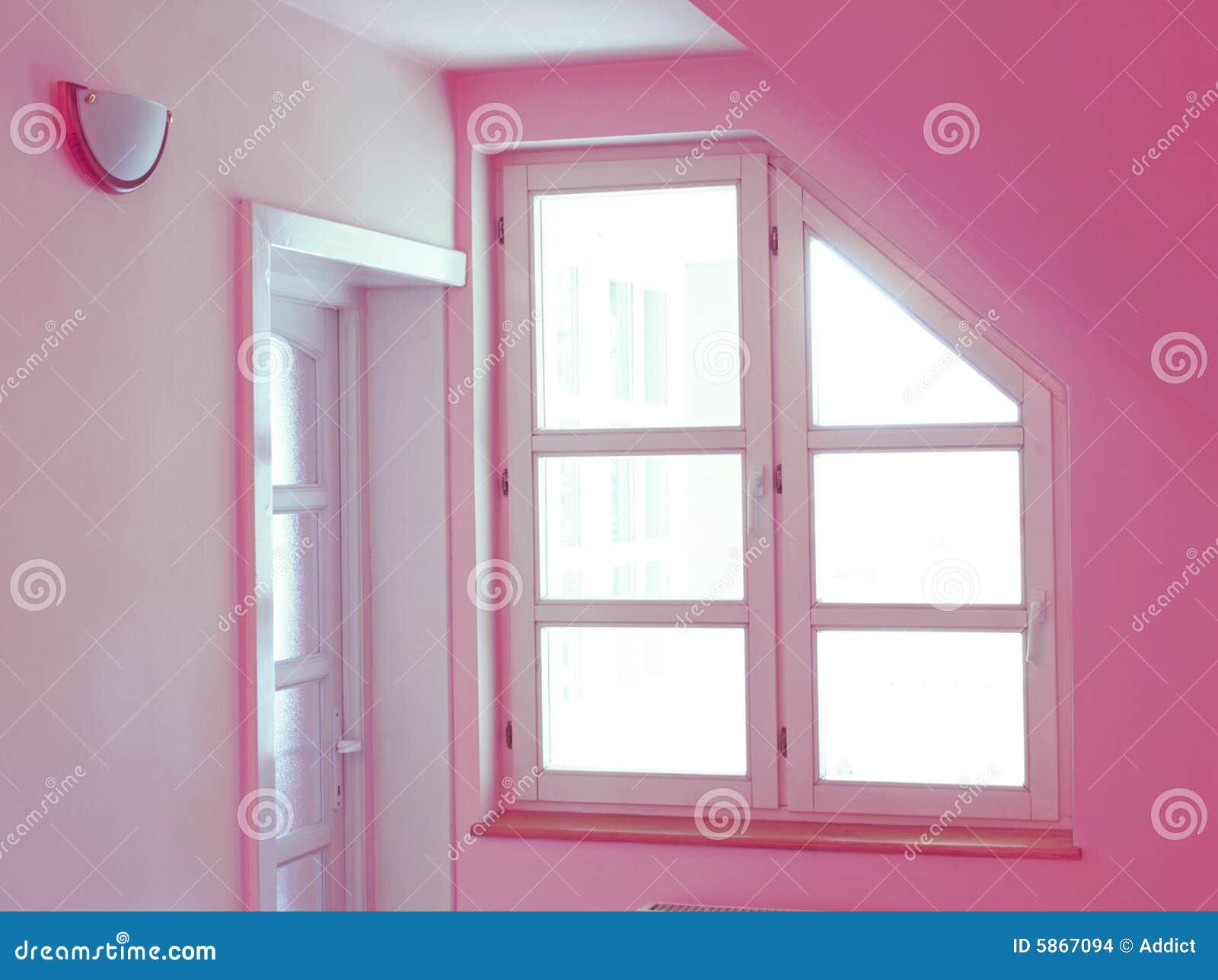 Intérieur à la maison rose images stock
