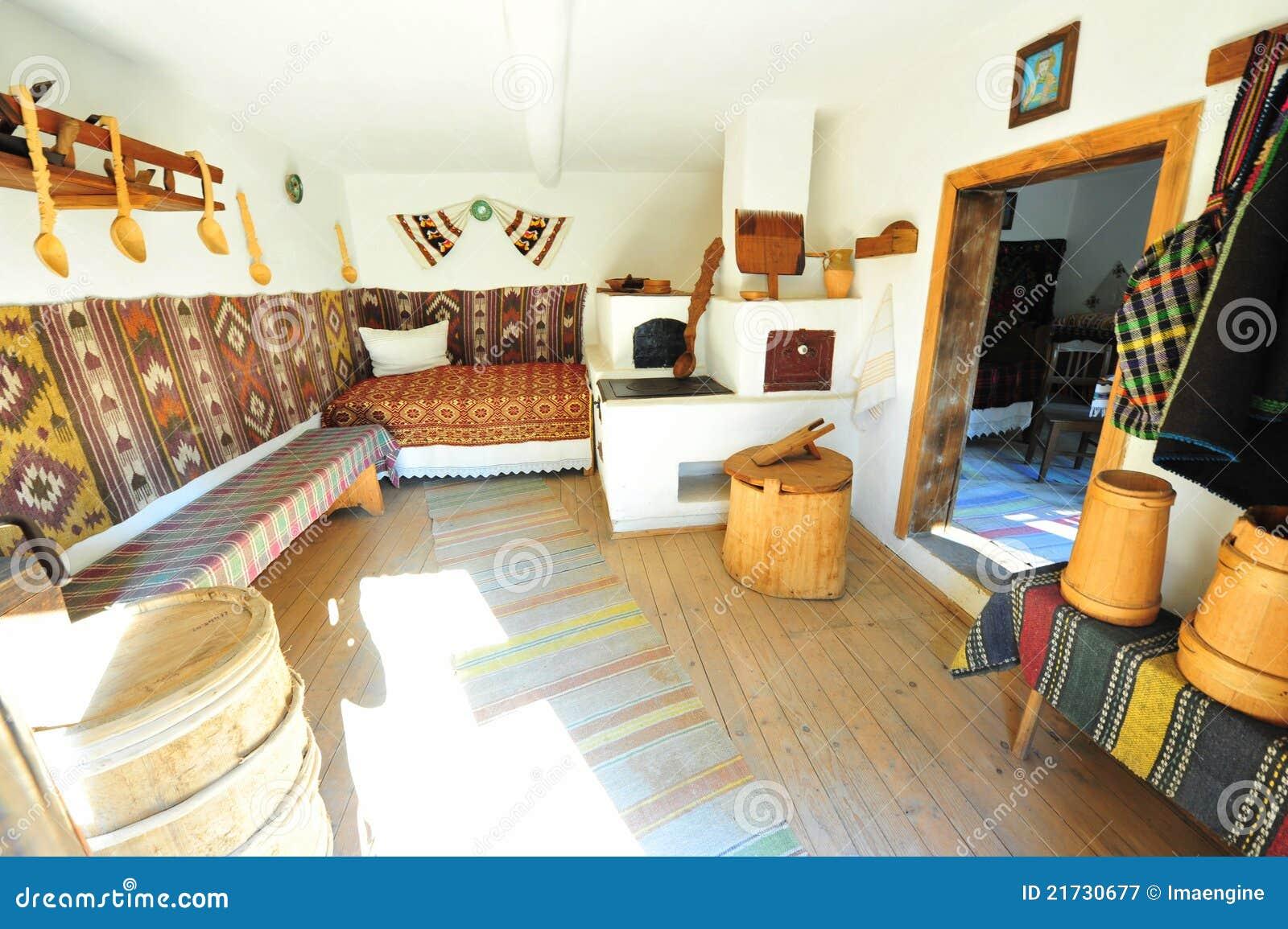 Intérieur à la maison rural rustique traditionnel - Roumanie