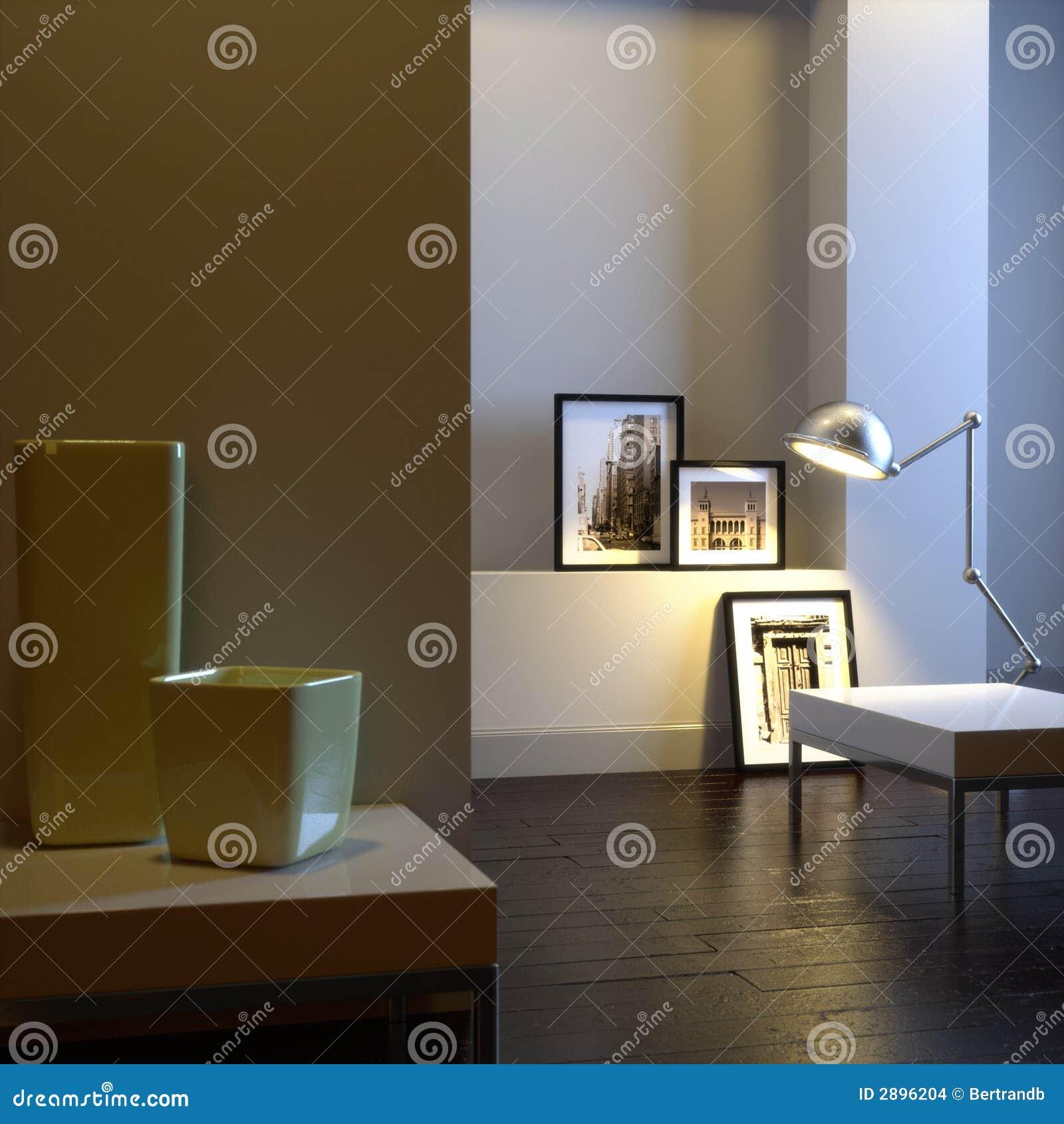 Intérieur élégant avec la lampe
