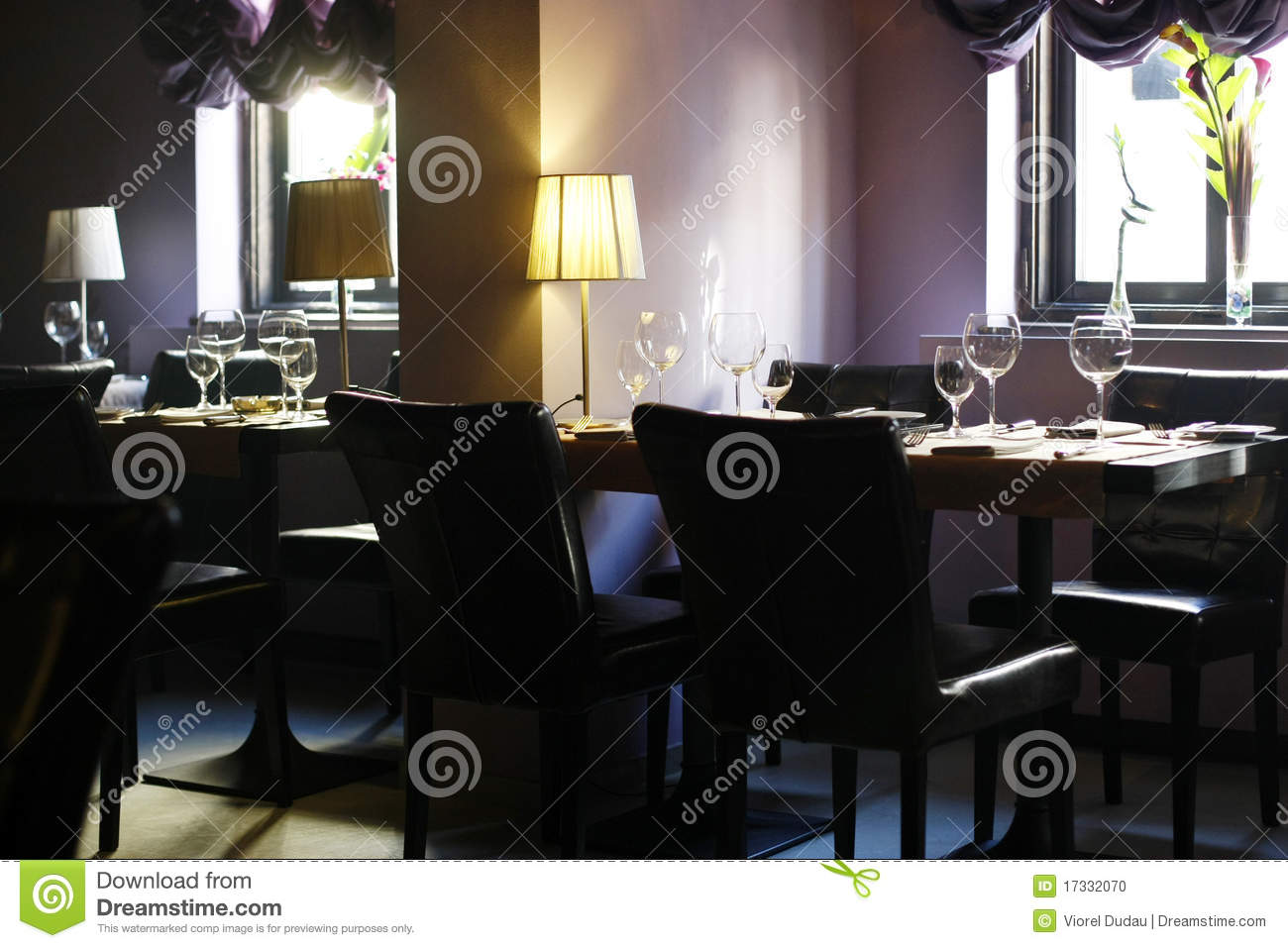 int 233 rieur 233 l 233 gant d un restaurant vide photo stock image 17332070