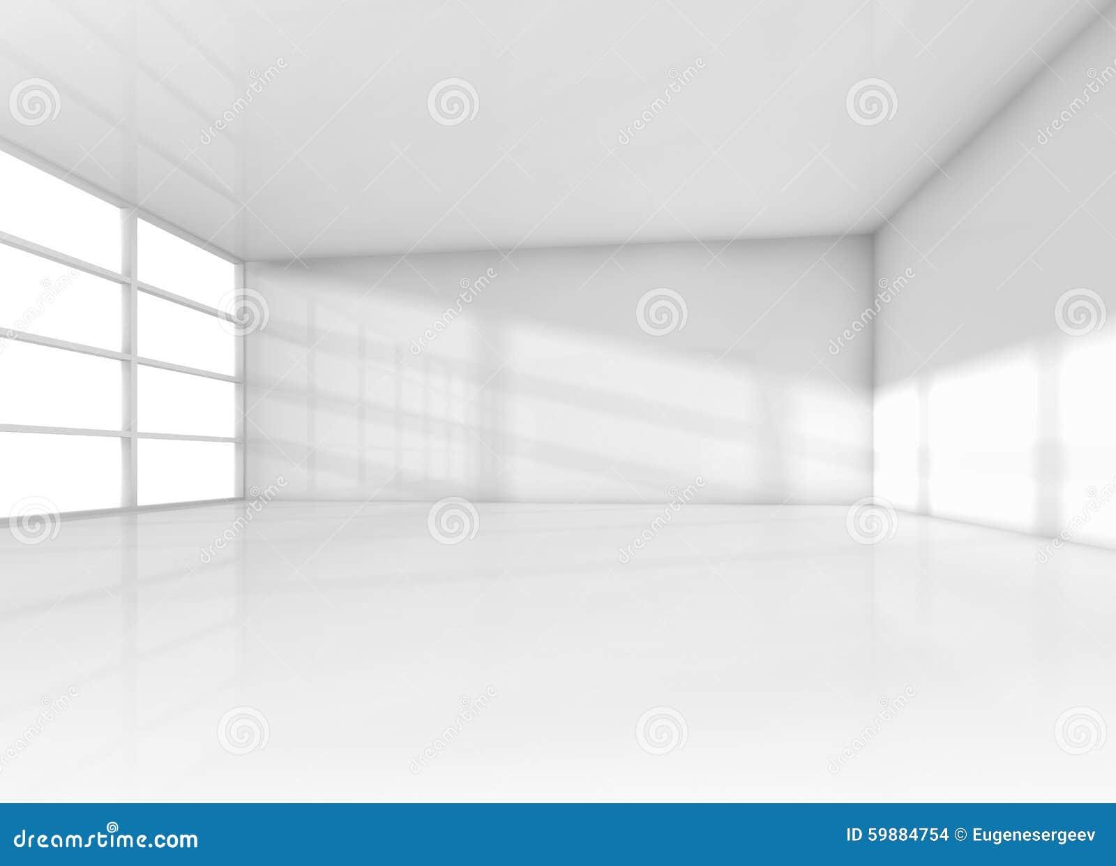 Int rieur abstrait pi ce vide blanche avec la lumi re du for Interieur de la bouche blanche