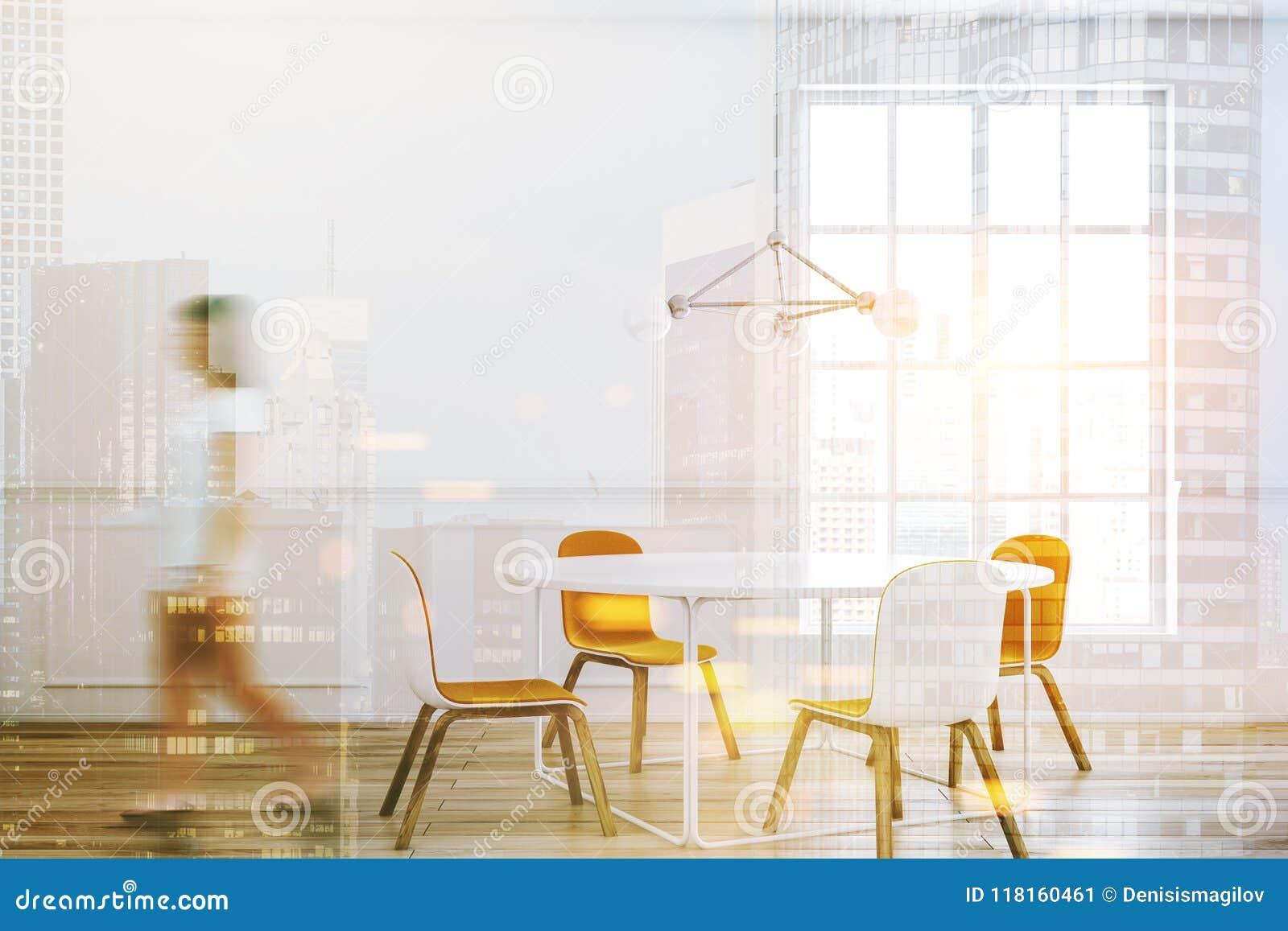 Intérieur Blanc De Salle à Manger De Table, Femme Image ...