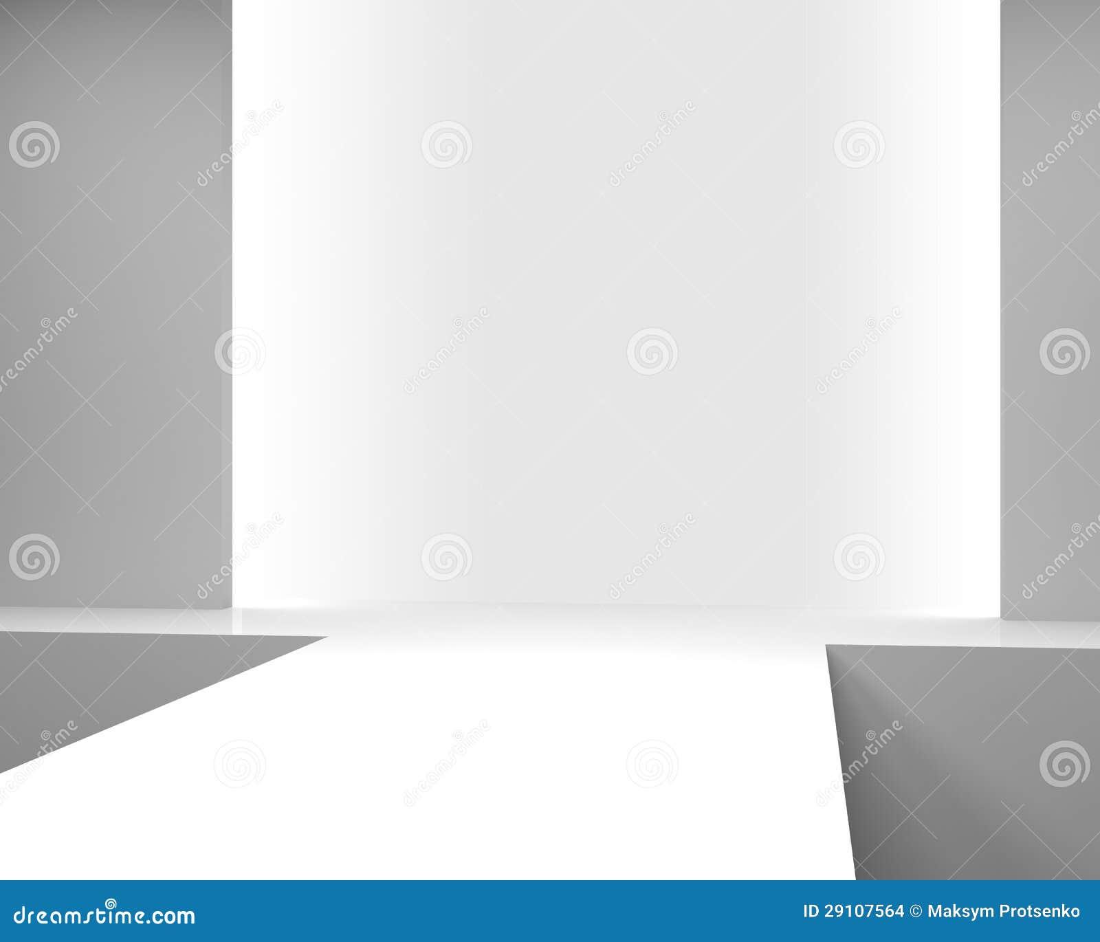 Int rieur blanc vide avec un podium pour le d fil de mode for Le vide interieur