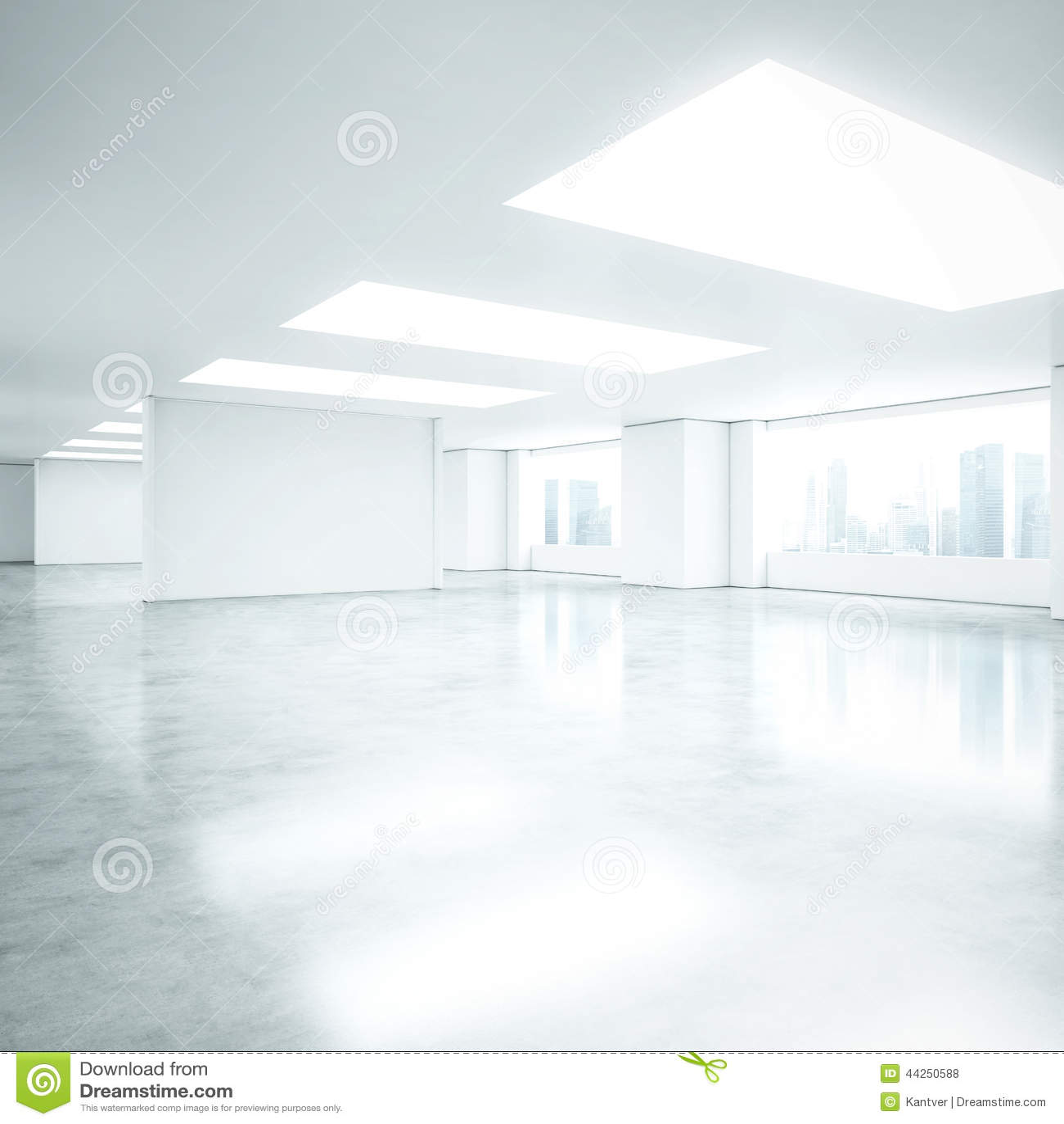 Intérieur blanc vide de bureau