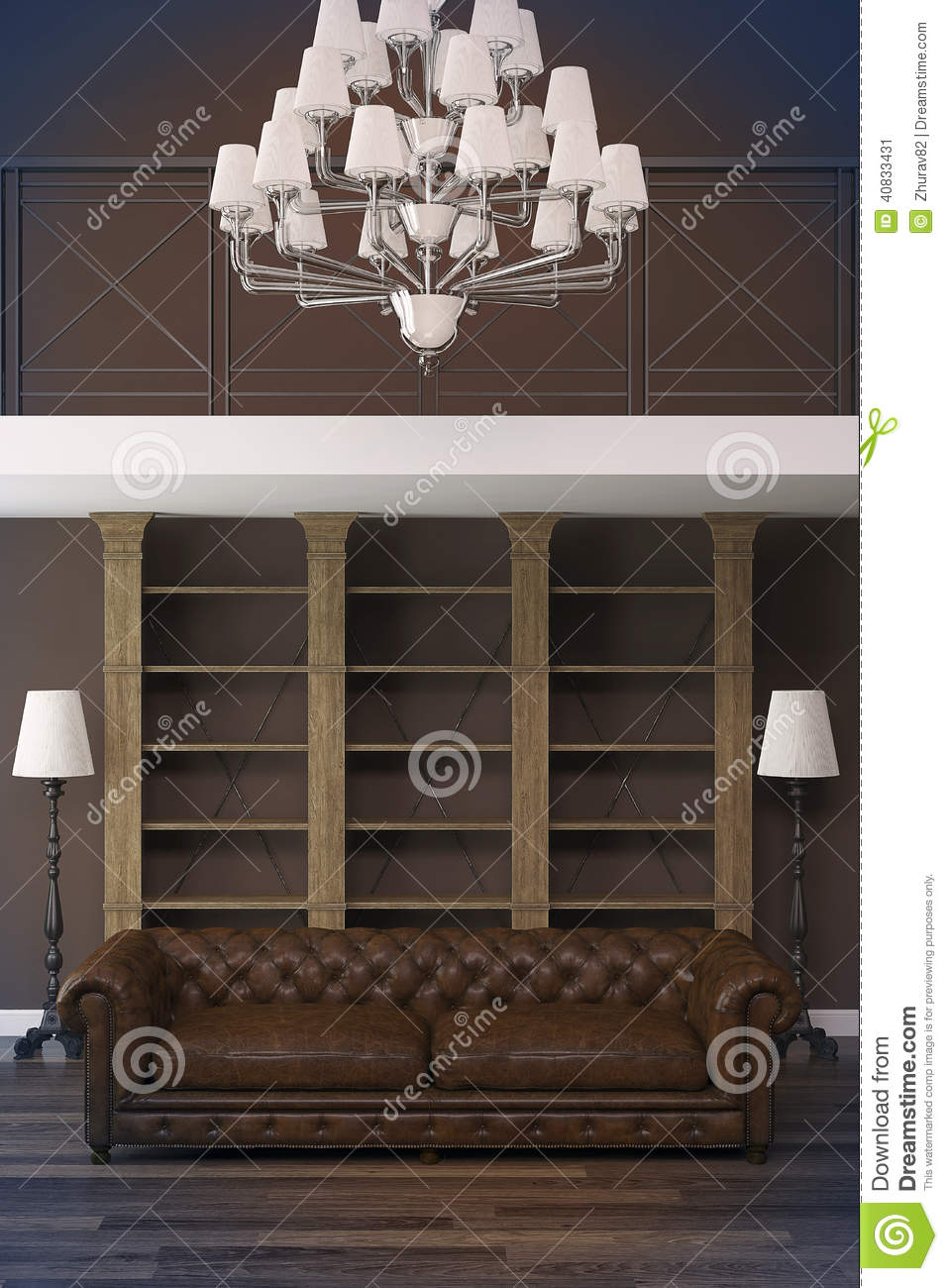 download intrieur classique avec le sofa de chesterfield image stock image du fonc conception