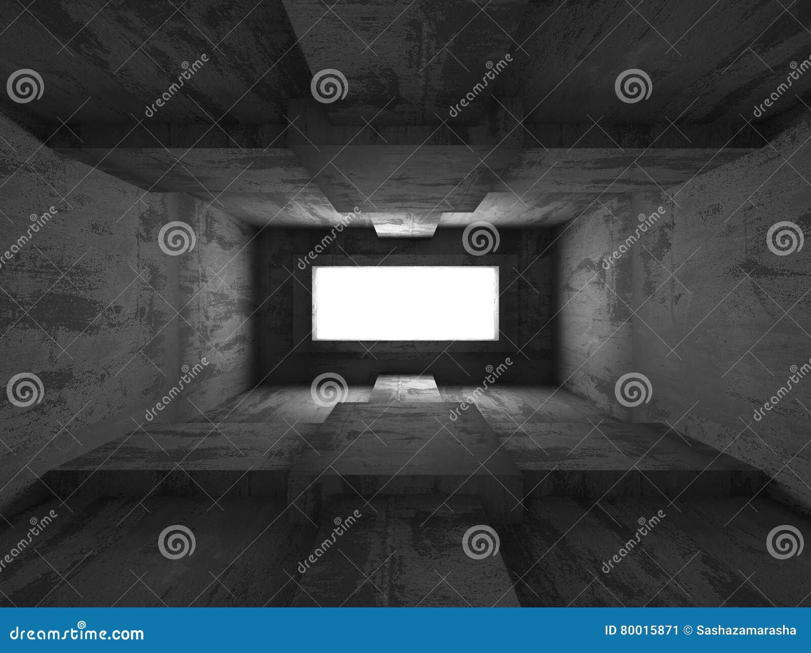 Intérieur concret de sous-sol foncé vide CCB abstrait d architecture