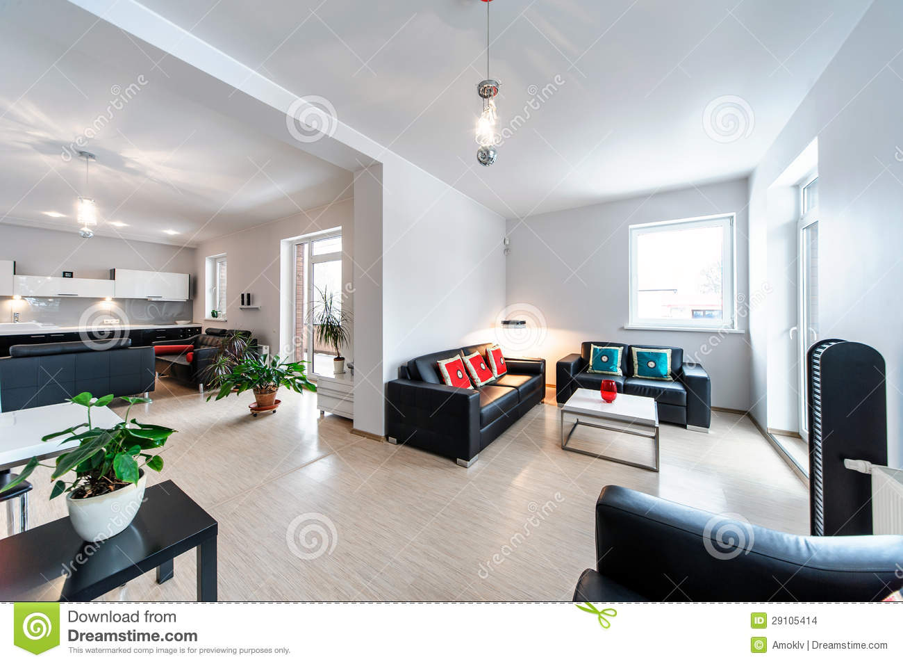 Intérieur Contemporain De Salon Photo stock - Image du home, beau ...