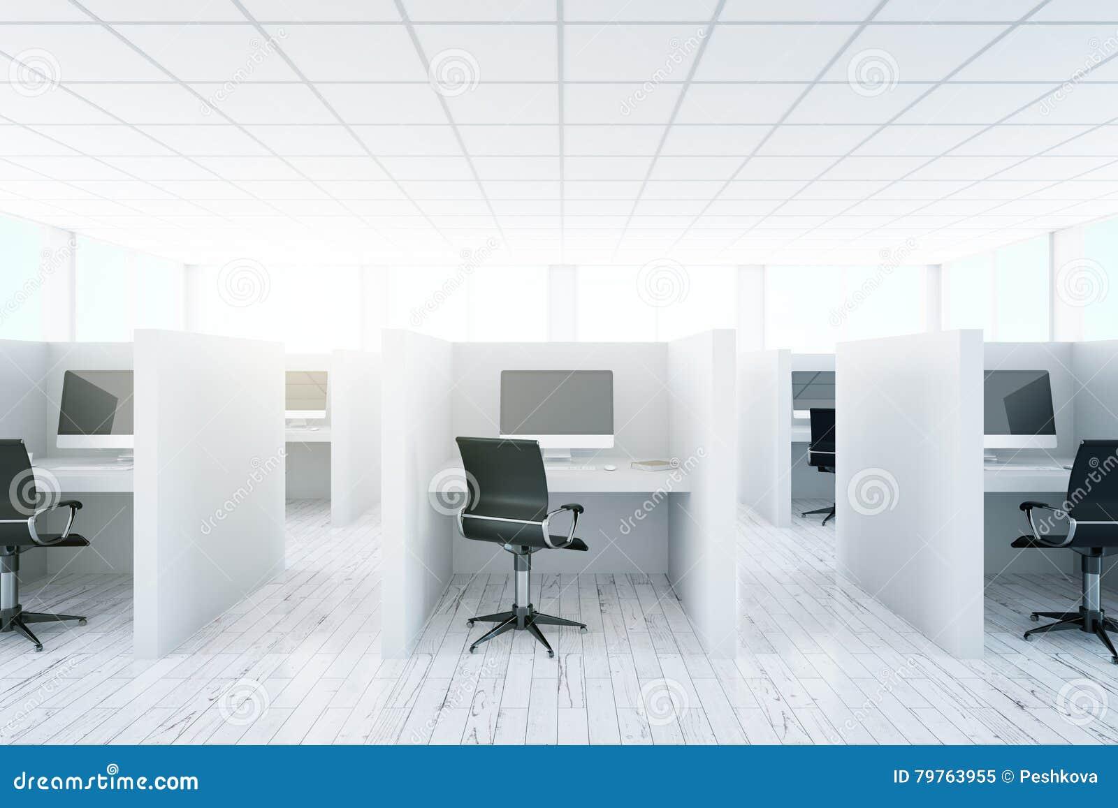 Intérieur coworking léger de bureau illustration stock