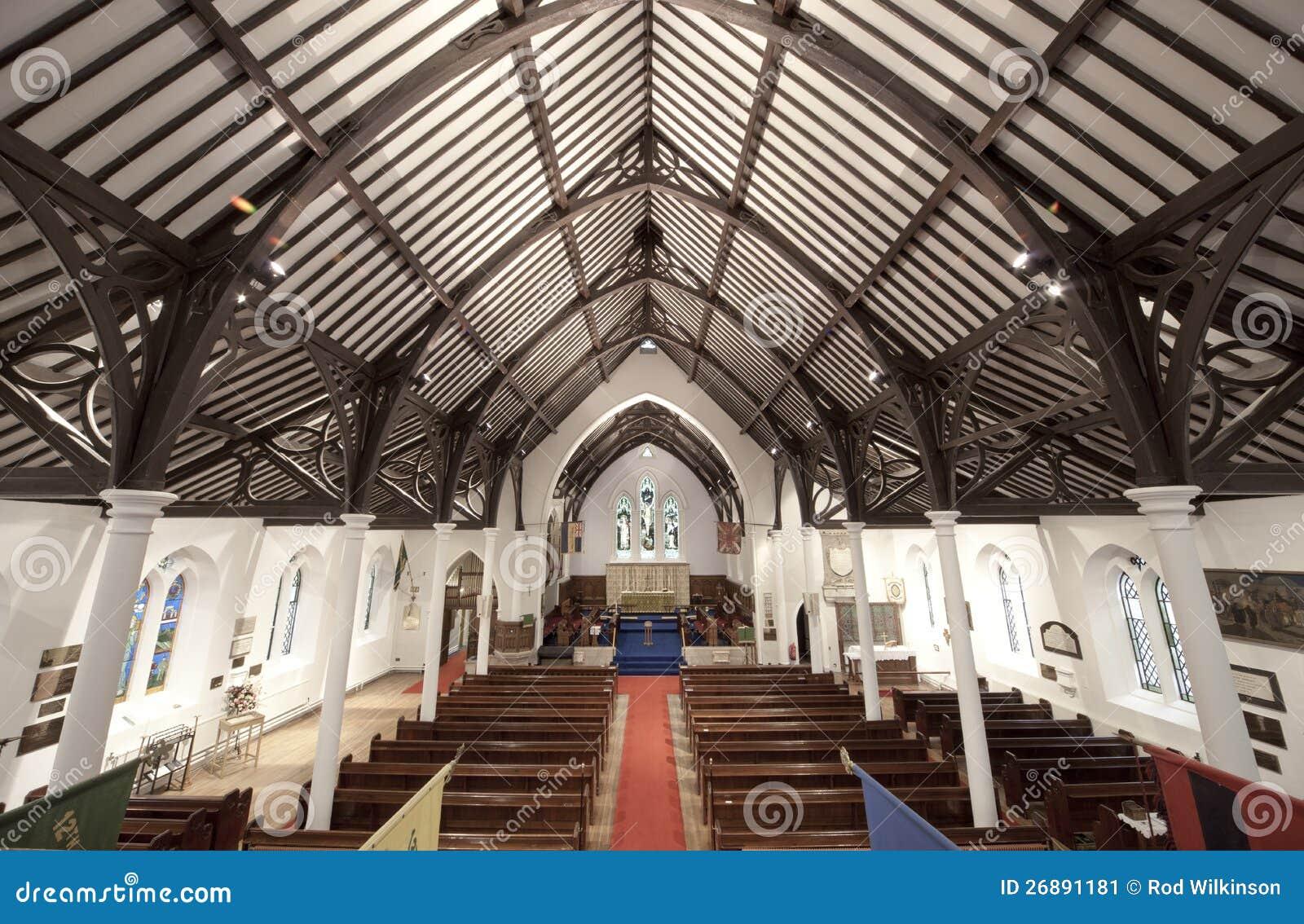 Intérieur d église d armée