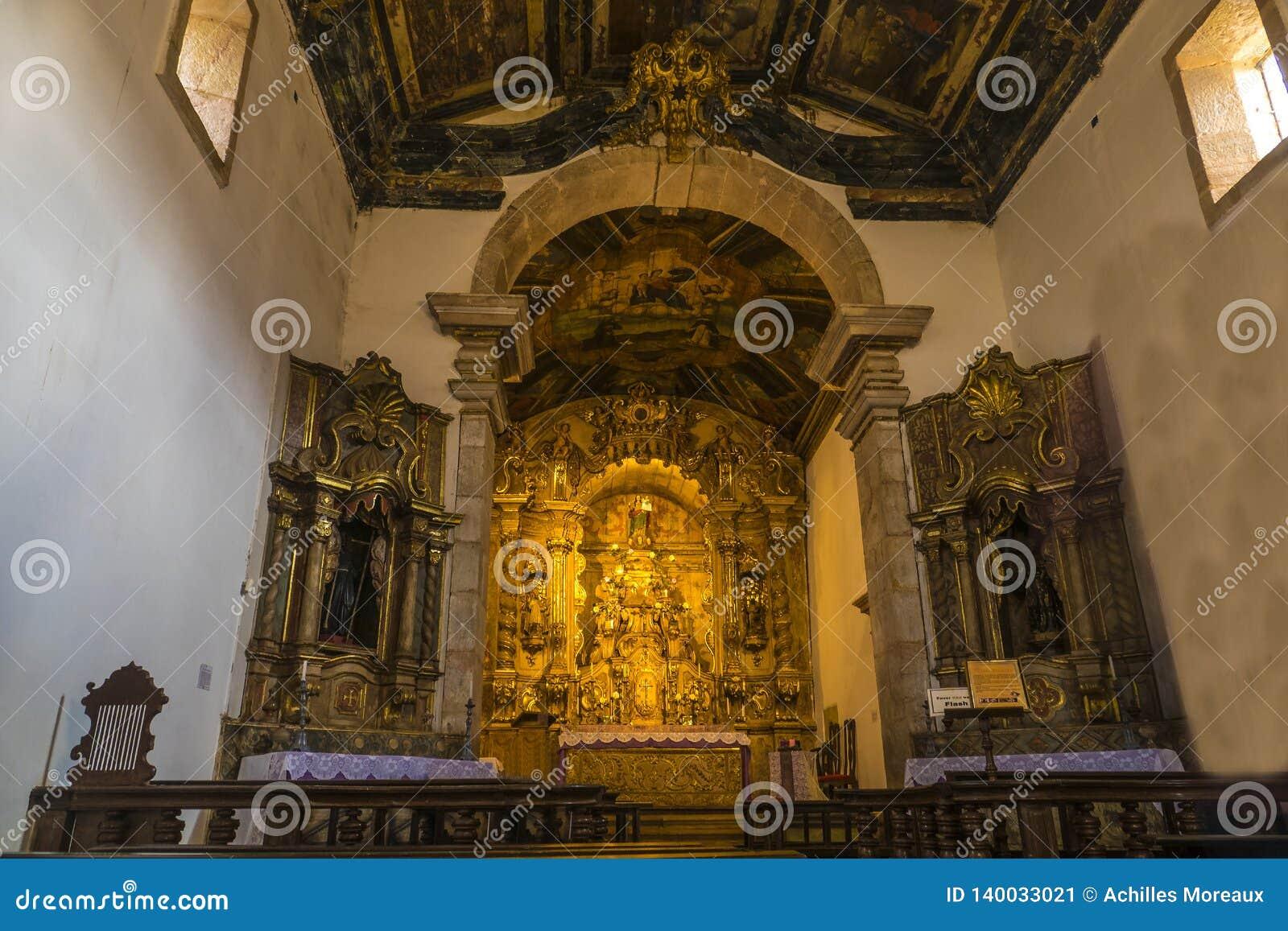 Intérieur d église de Tiradentes