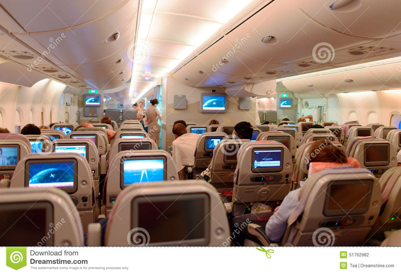 Int rieur d 39 airbus a380 photographie ditorial image for Airbus a380 photos interieur