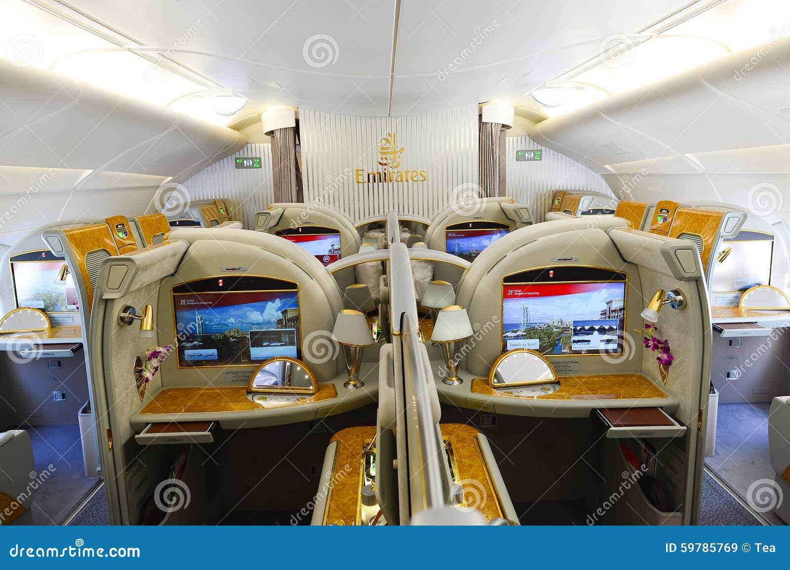 bangkok thalande 31 mars 2015 intrieur dairbus a380 dmirats les mirats est lune de deux compagnies des emirats arabes unis avec etihad airways