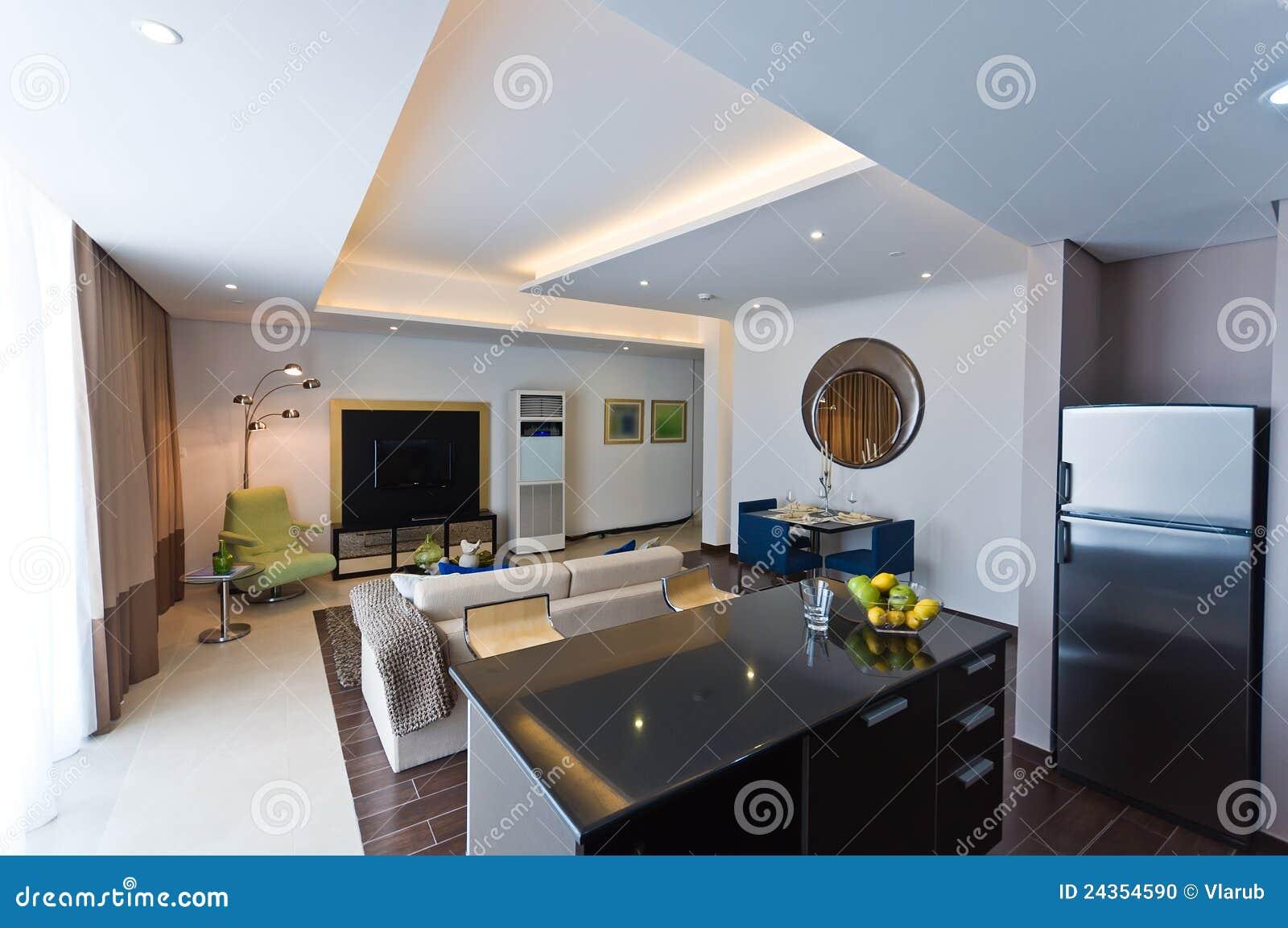 Intérieur D\'appartement Moderne Photo stock - Image du cuisine ...
