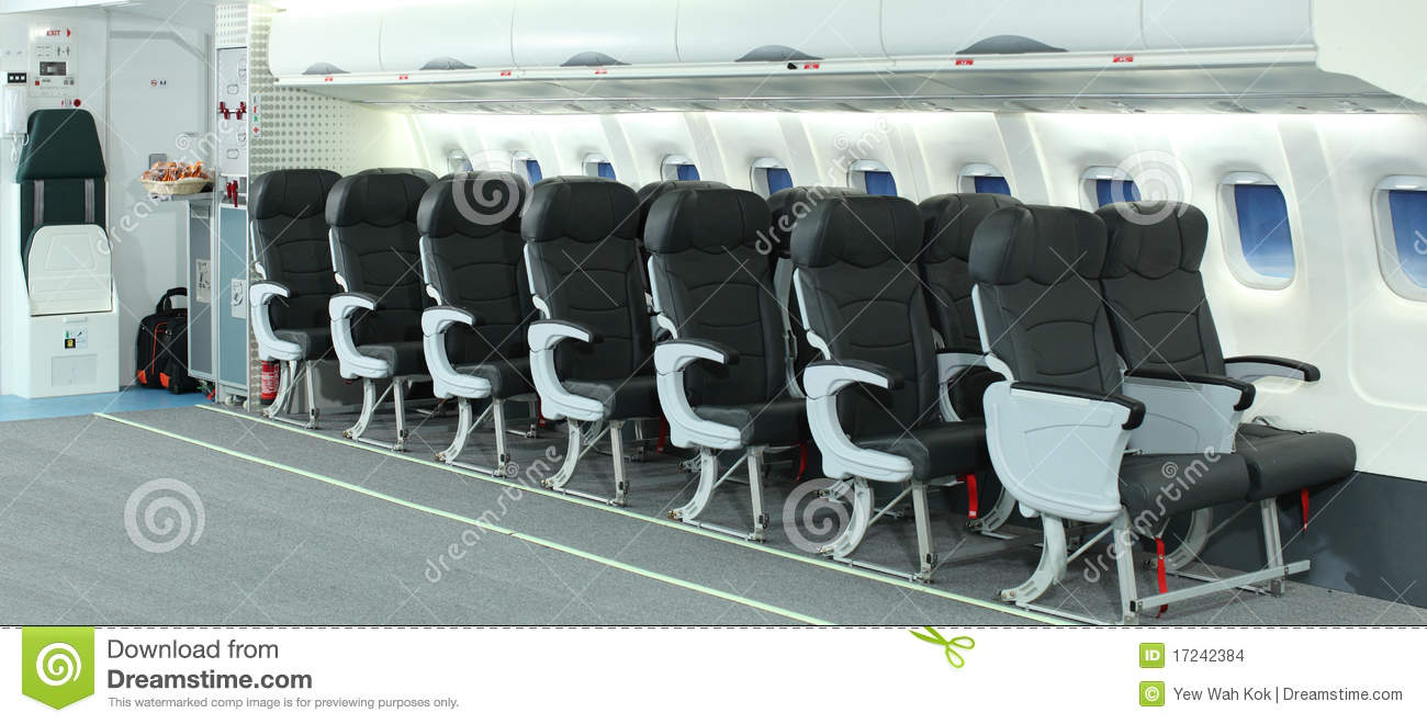 Int rieur d 39 avion images stock image 17242384 for Interieur d avion