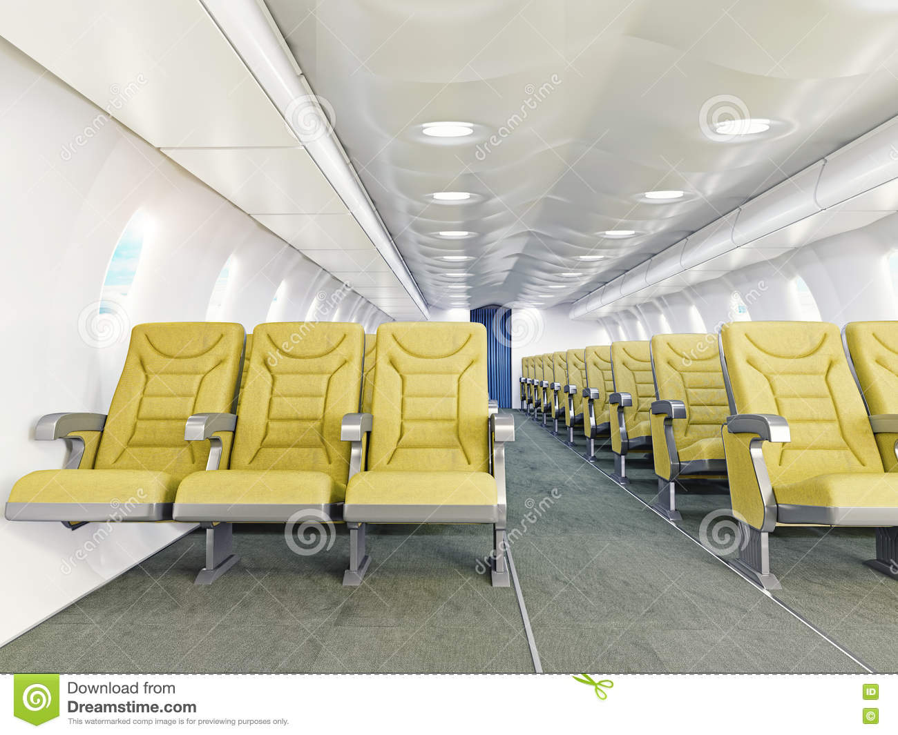 Int rieur d 39 avion illustration stock image 47392763 for Interieur d avion