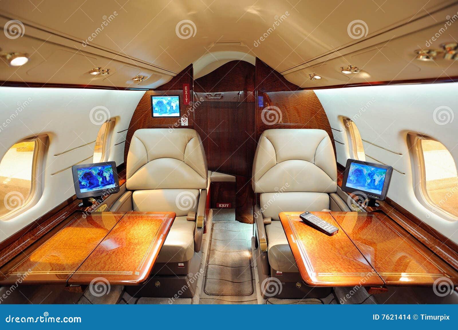 Intérieur d avion d avion à réaction