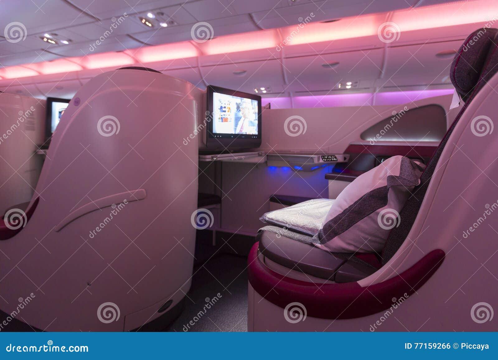 Intérieur d avion de classe d affaires d A380 Boeing