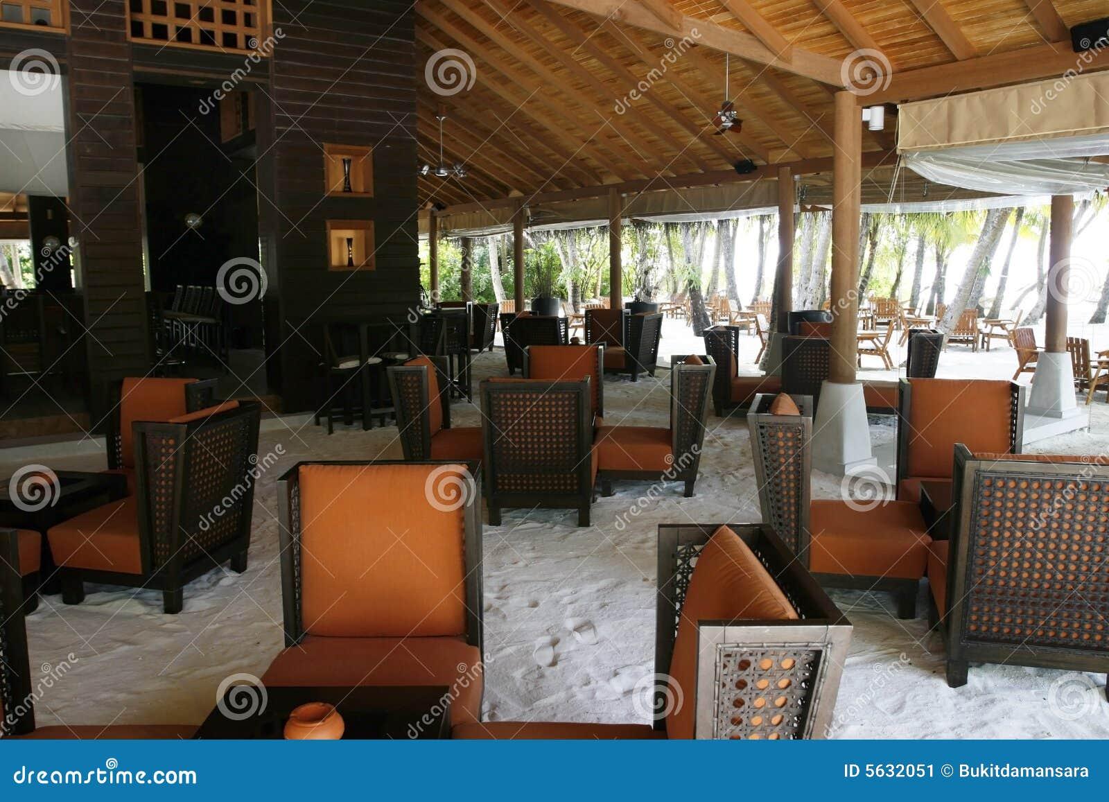 Interieur D Un Bar intérieur d'un bar de plage image stock - image du bois