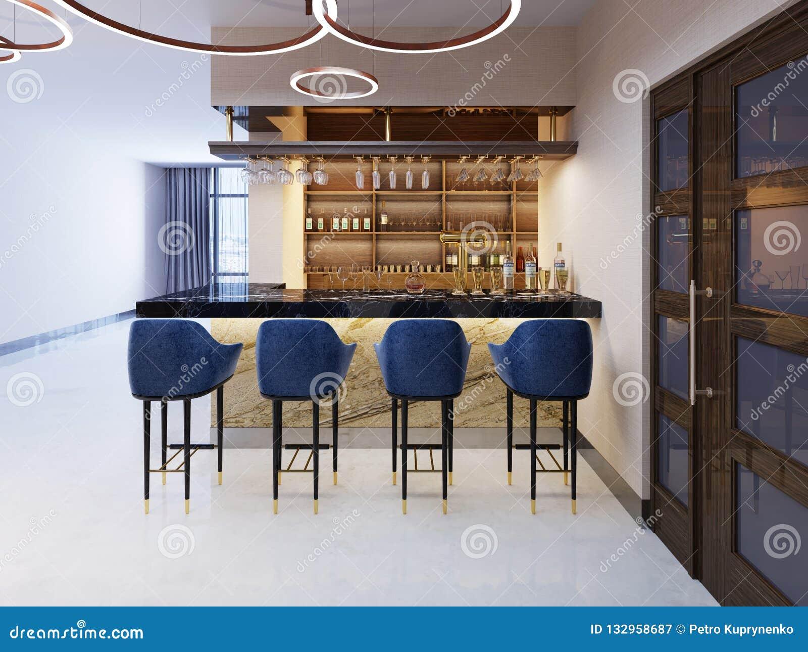 Interieur D Un Bar intérieur d'un bar ou d'une barre moderne à la soirée