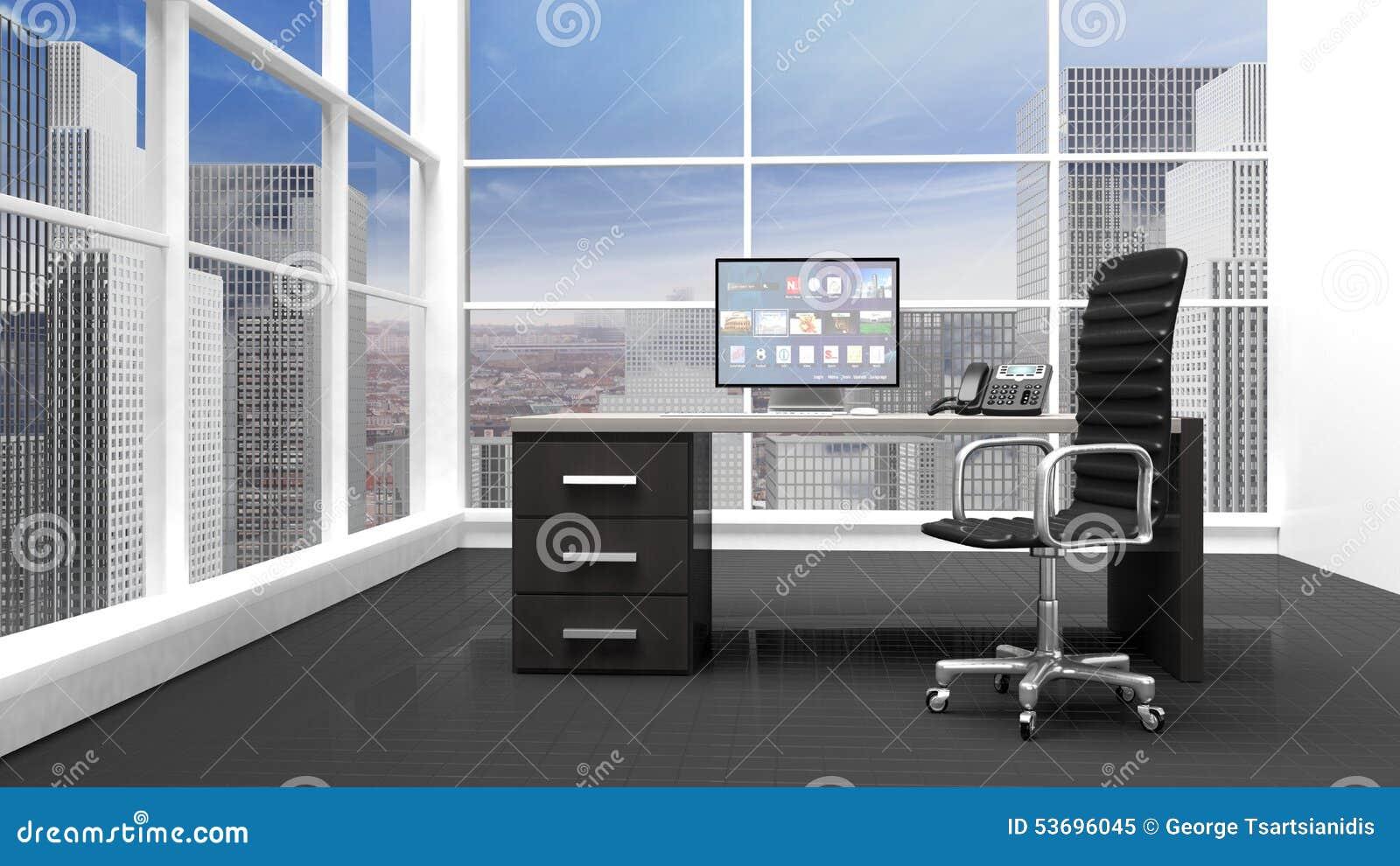 Intérieur d un bureau moderne illustration stock illustration du