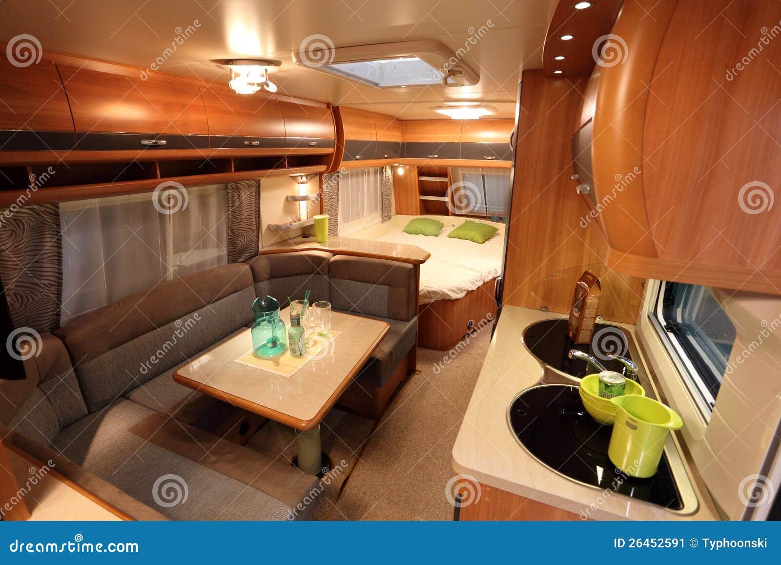 Interieur Dun Camping Car Moderne Photo Editorial