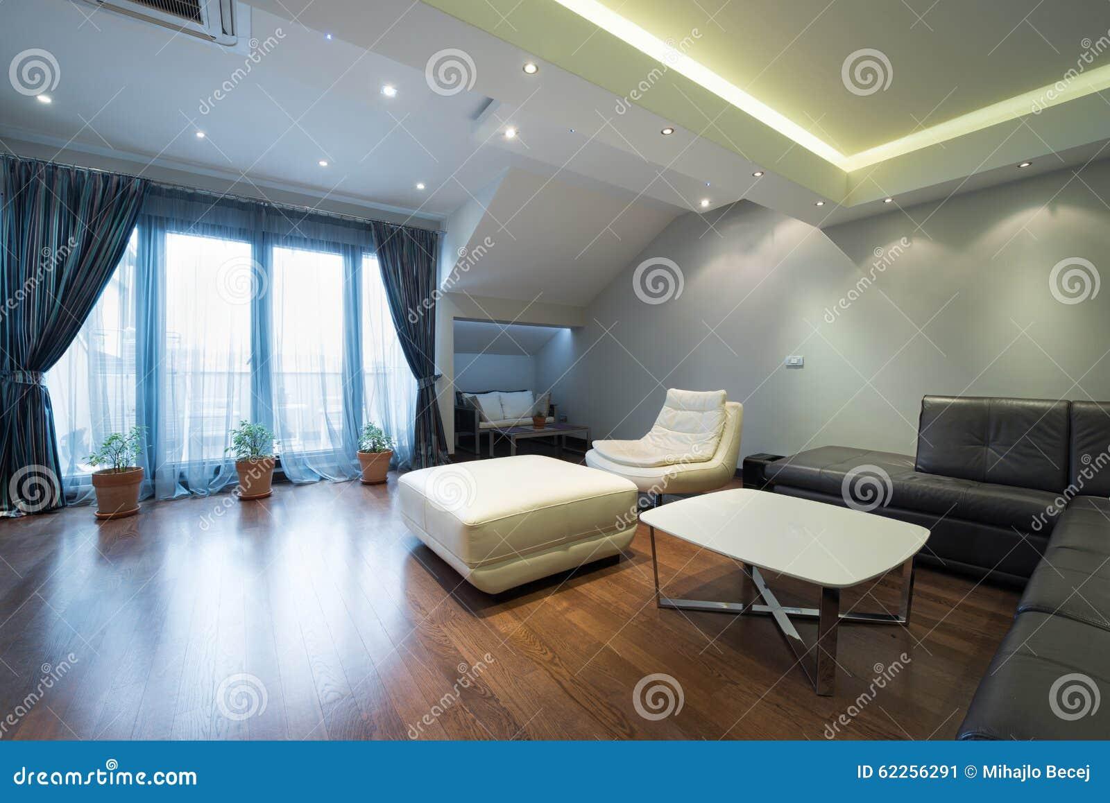 Intérieur D\'un Salon De Luxe Avec De Beaux Plafonniers Image stock ...