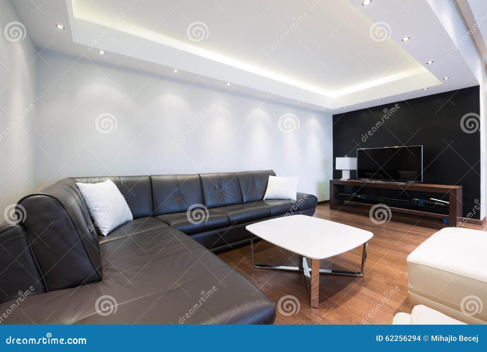 Intérieur D\'un Salon De Luxe Avec De Beaux Plafonniers Photo stock ...