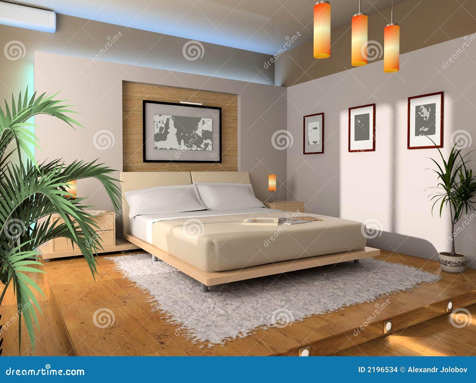 int rieur d 39 une chambre coucher illustration stock image 2196534. Black Bedroom Furniture Sets. Home Design Ideas