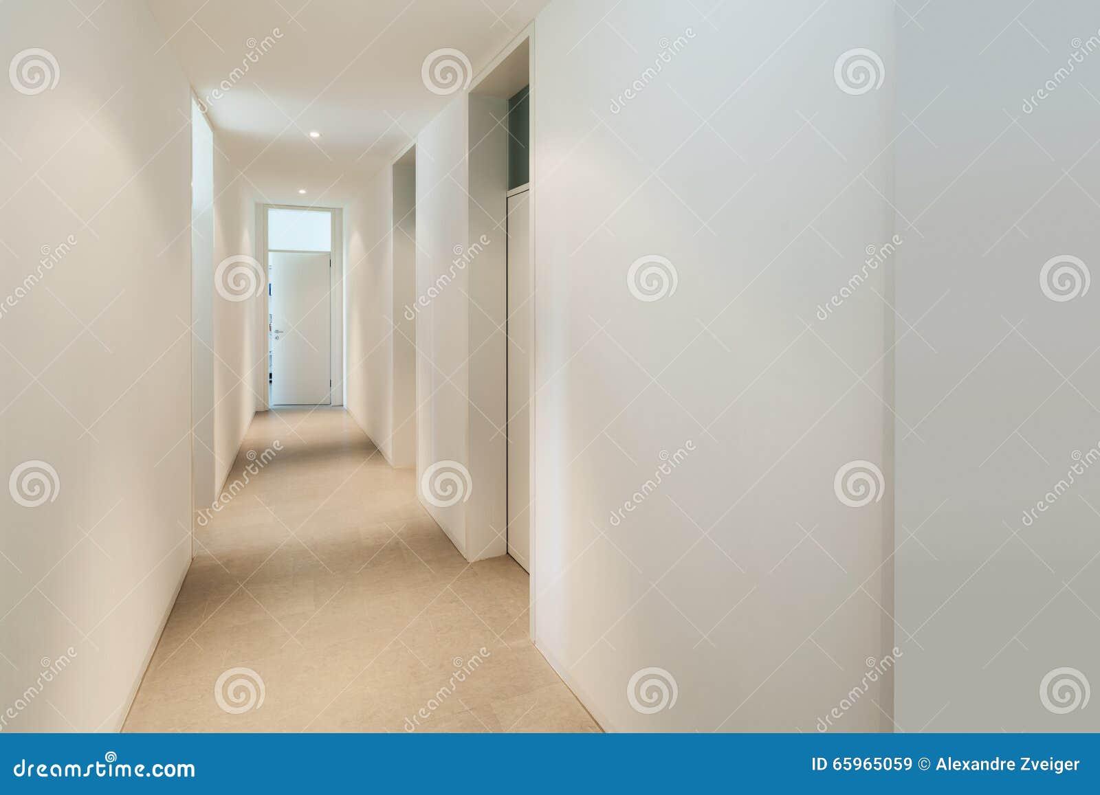 Intérieur d une maison moderne couloir photo stock