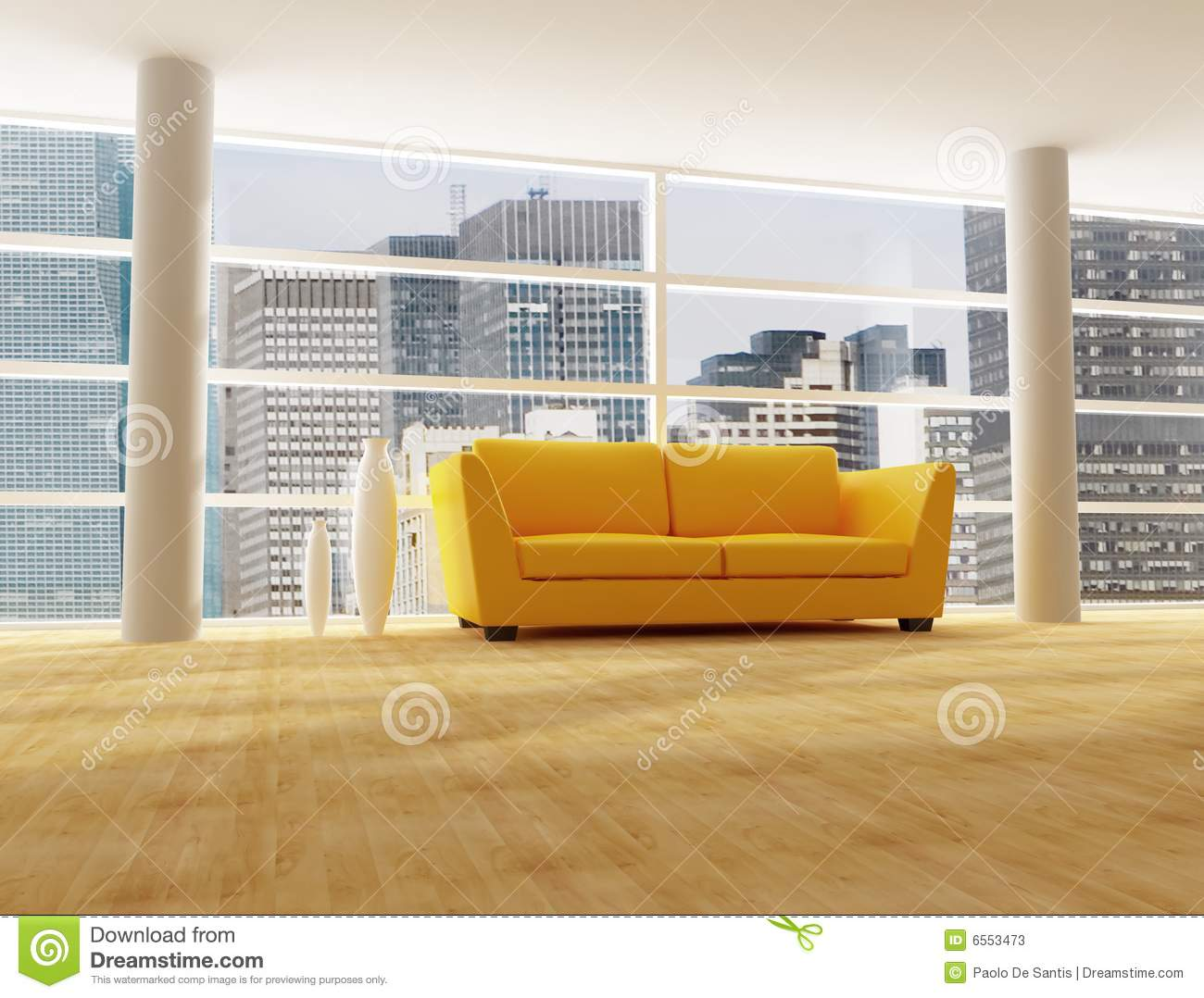 Int rieur d 39 une maison moderne de ville photos stock image 6553473 for Interieur d une maison