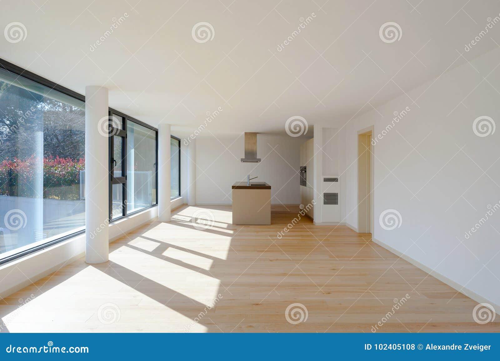 Interieur D Une Maison Moderne Juste Une Salle Vide Photo Stock