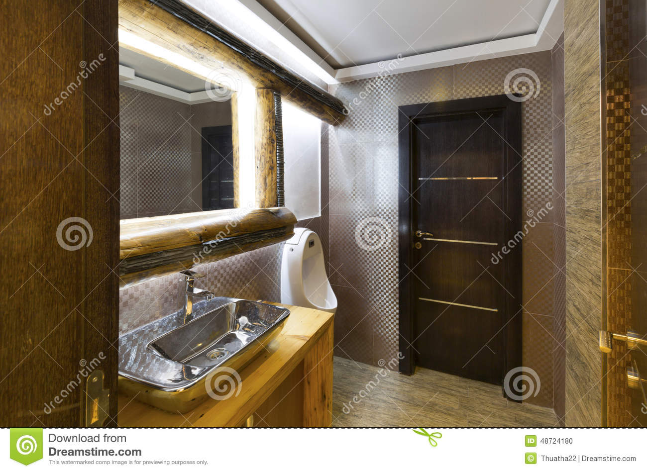 int rieur d 39 une toilette de luxe photo stock image 48724180. Black Bedroom Furniture Sets. Home Design Ideas