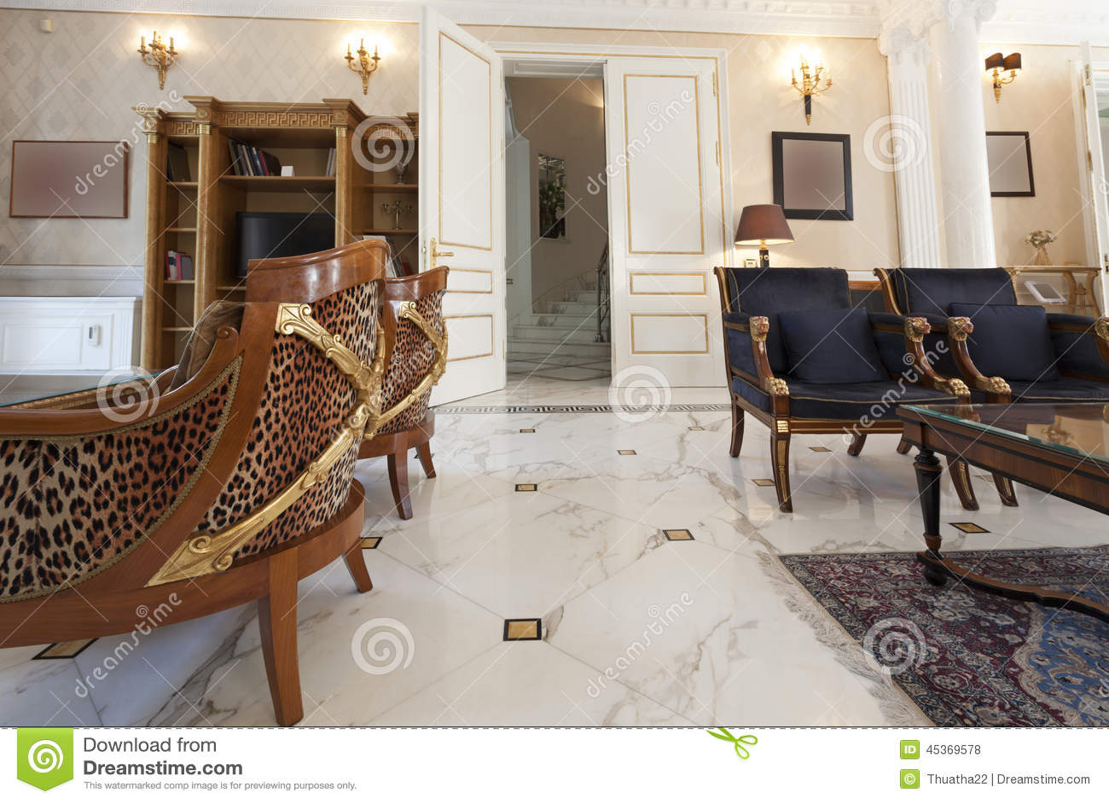 Intérieur d une villa de luxe