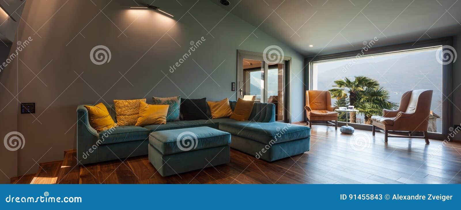 Intérieur D Une Villa Moderne De Luxe Salon Image Stock
