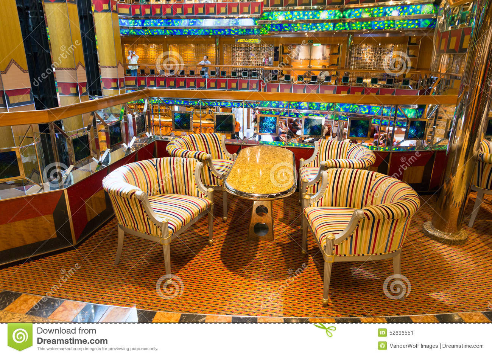 int rieur de bateau de croisi re de costa fortuna photo ditorial image 52696551. Black Bedroom Furniture Sets. Home Design Ideas