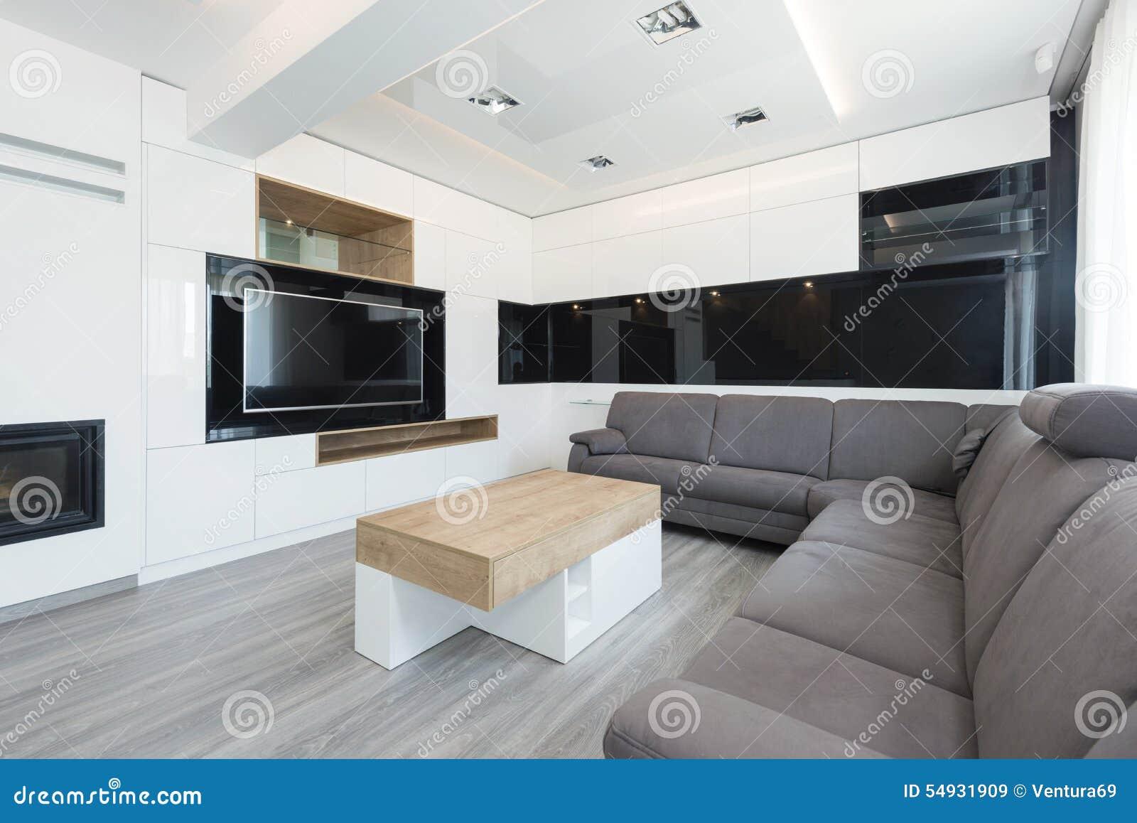 Int rieur de beau salon moderne image stock image 54931909 for Salon d appartement