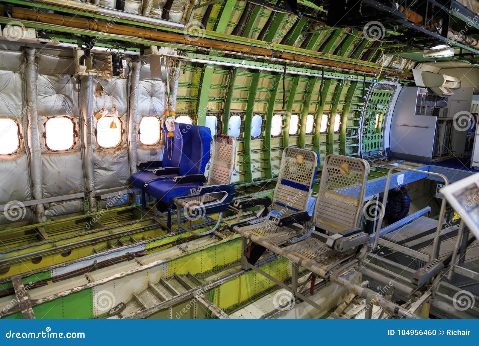 intrieur de boeing 747 dpouill